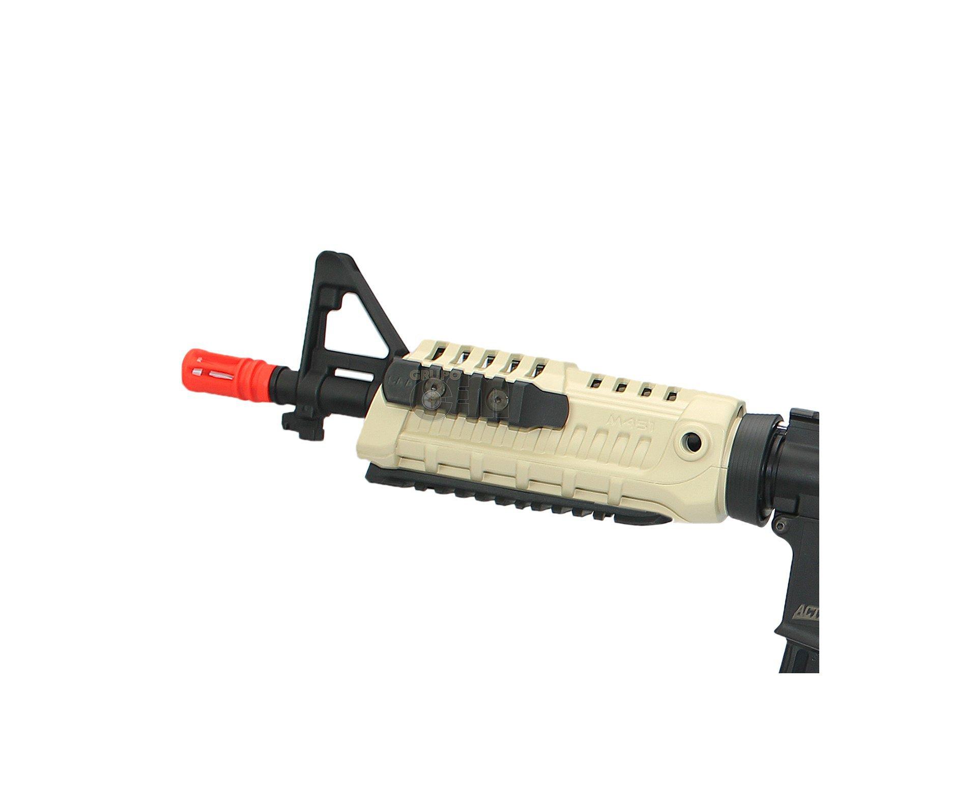 Rifle De Airsoft M4 Caa Cqb Dual Color Custom Cal 6mm Bivolt - King Arms