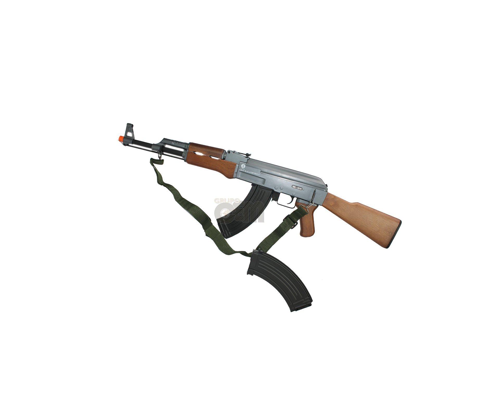 Rifle De Airsoft Kalashnikov Ak47 2mag - Cibergun
