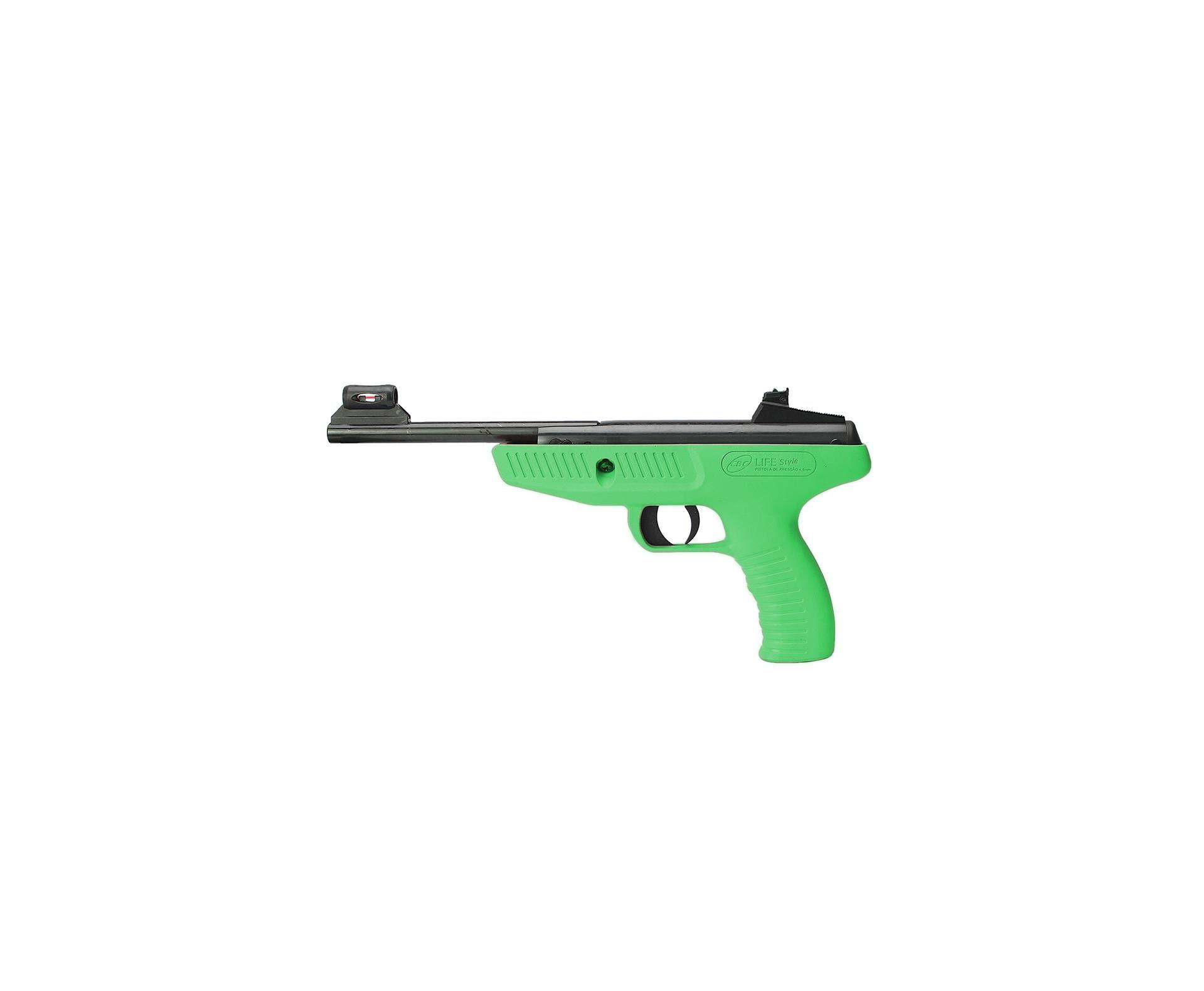 Pistola De Pressão Cbc Life Style Verde - Calibre 4,5 Mm