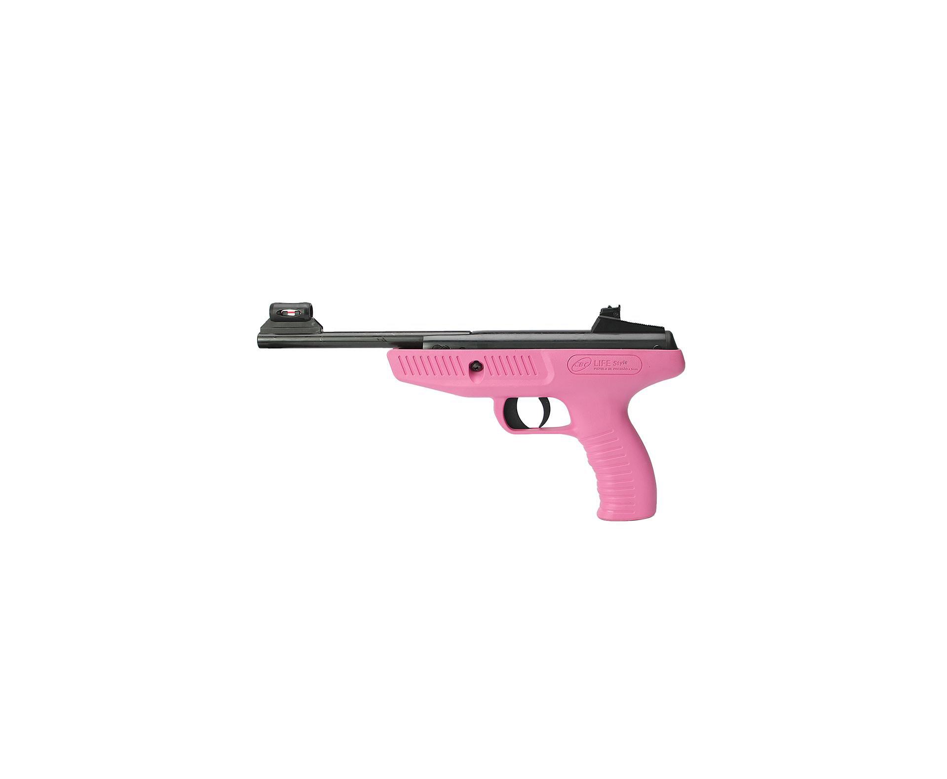 Pistola De Pressão Cbc Life Style Rosa - Calibre 4,5 Mm