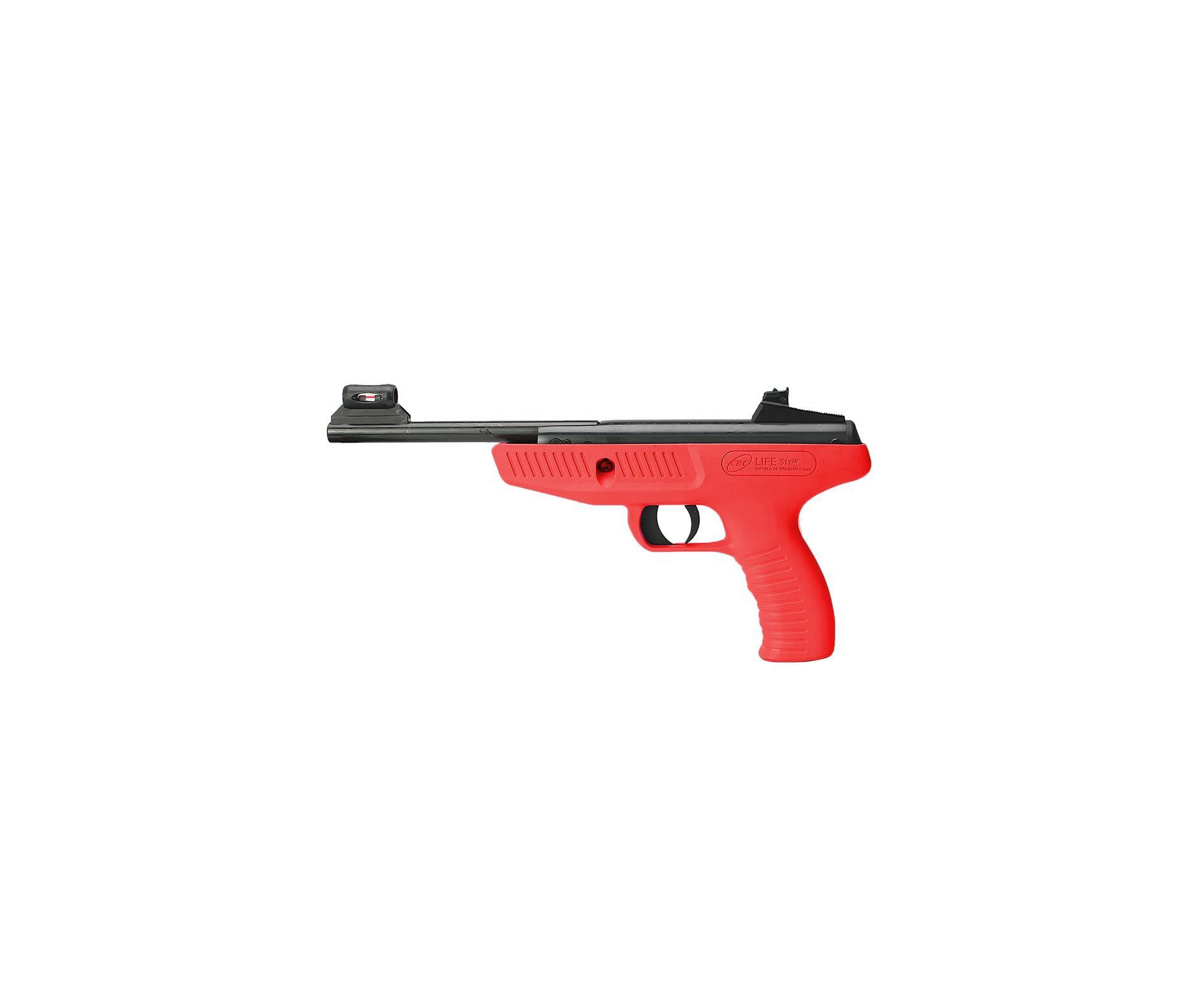 Pistola De Pressão Cbc Life Style Vermelha - Calibre 4,5 Mm