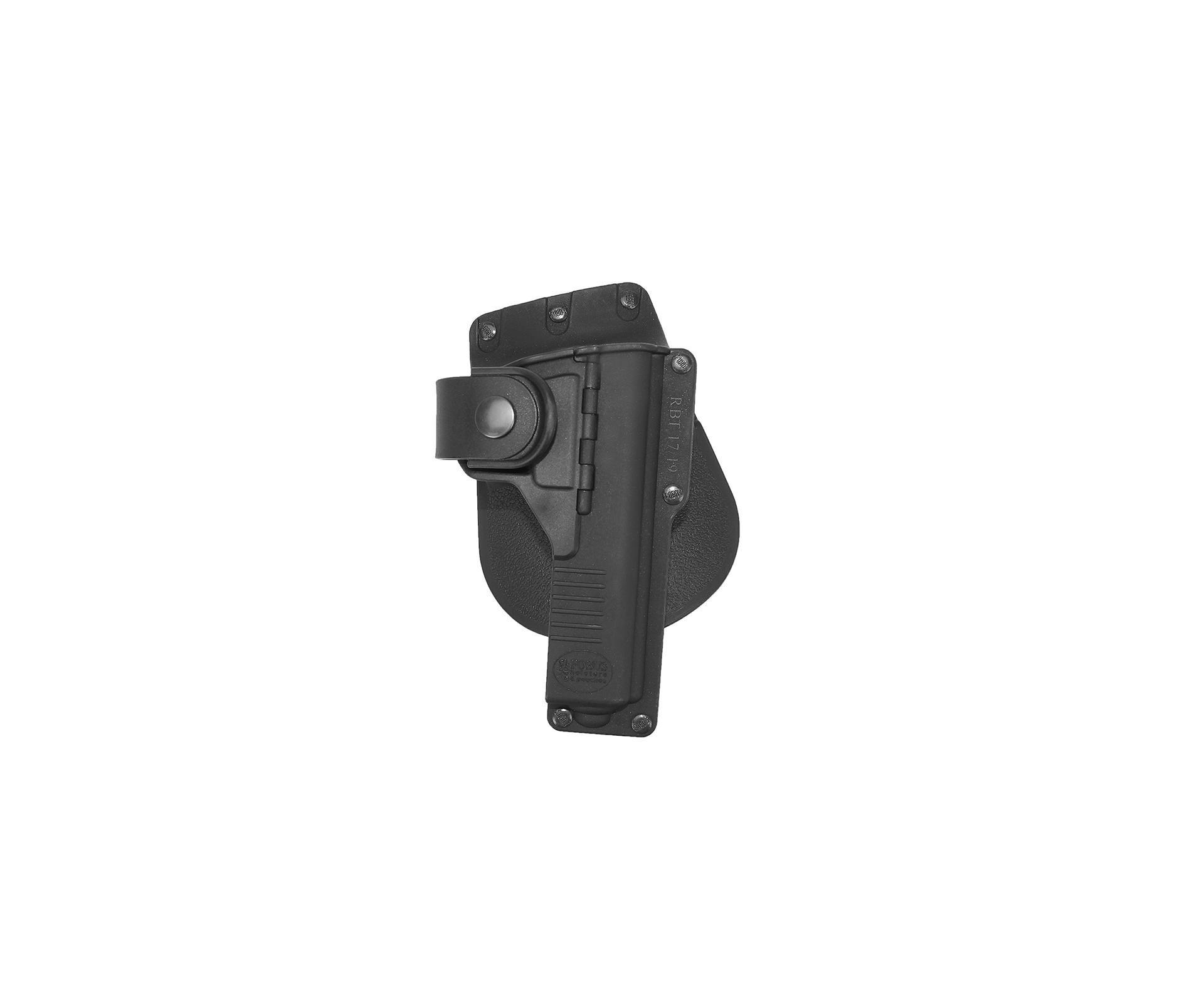 Coldre De Cintura Rbt17g Polímero Para Pst Glock 17/ 22/ 31 C/ Suporte Luneta - Fobus