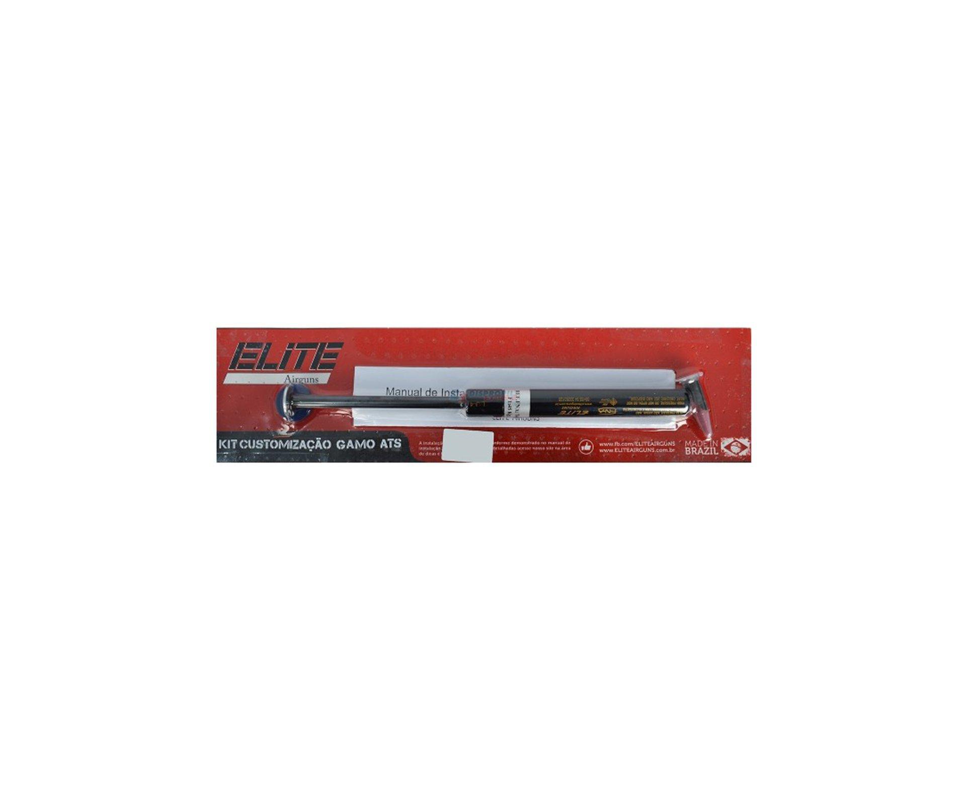 Kit Gamo Sts Com Pistão Pneumático 50 Kg + Bucha Pu Usinada + Centralizador Dianteiro Gamo + Centralizador Traseiro Gamo - Elite Airguns