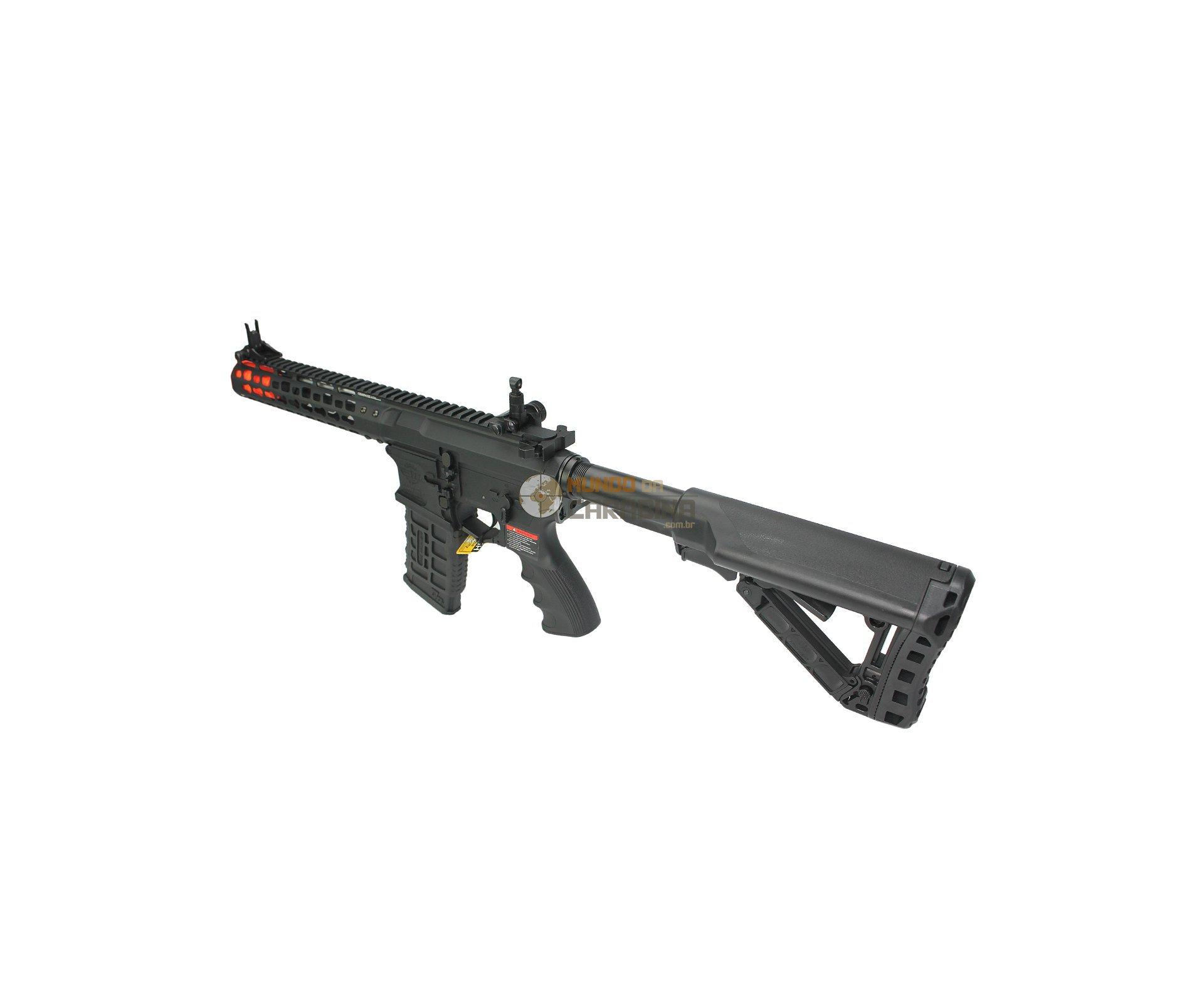 "Rifle De Airsoft Cm16 Wild Hog 9"" Elet Mosfet- Cal 6mm - G&g"