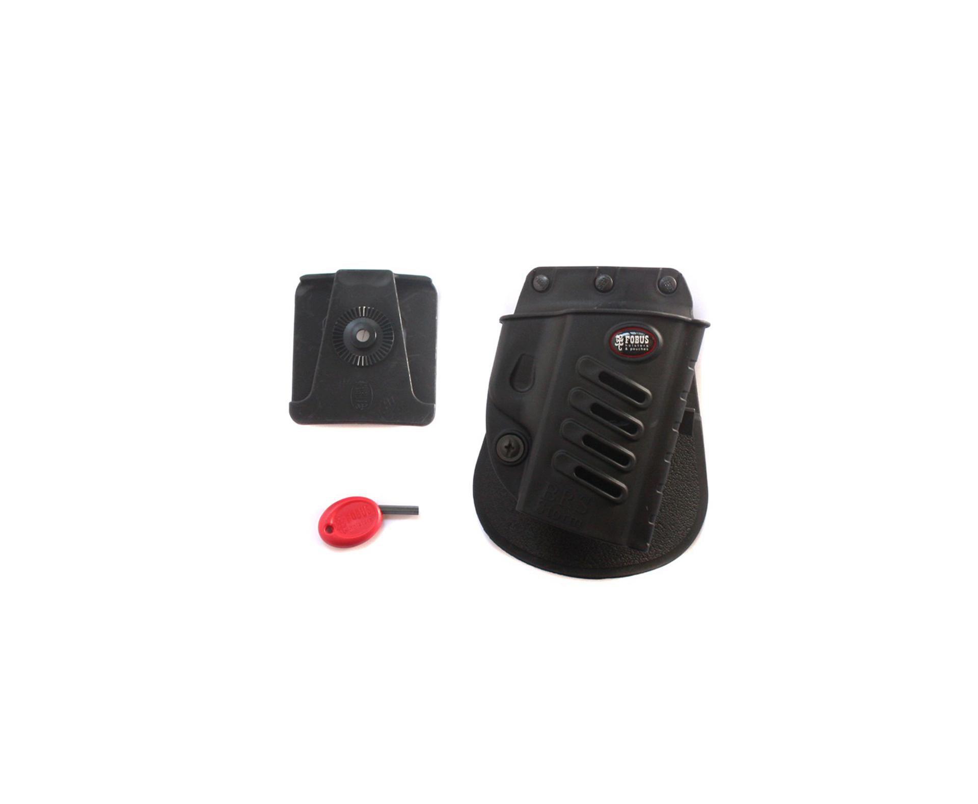 Coldre De Cintura Universal Rotativo Para Pistolas Taurus 24/7 E Outras (canhoto) - Fobus