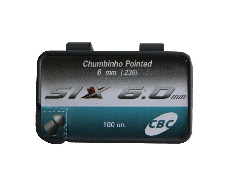 Chumbinho Pointed Six Injetado - Calibre 6,0 Mm - 100 Unidades - Cbc