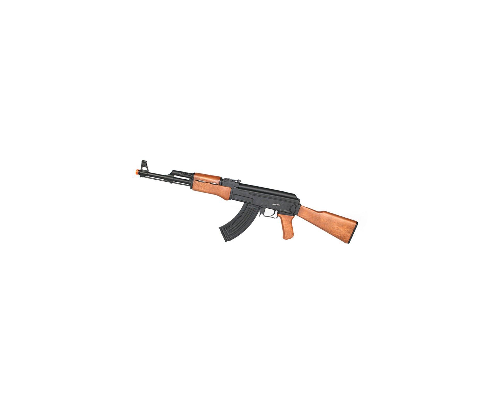 Rifle De Airsoft Ak47 Cm022 Cal 6,0mm Cyma + Esferas 0,12g Bbs Com 5000 Eagle Speed