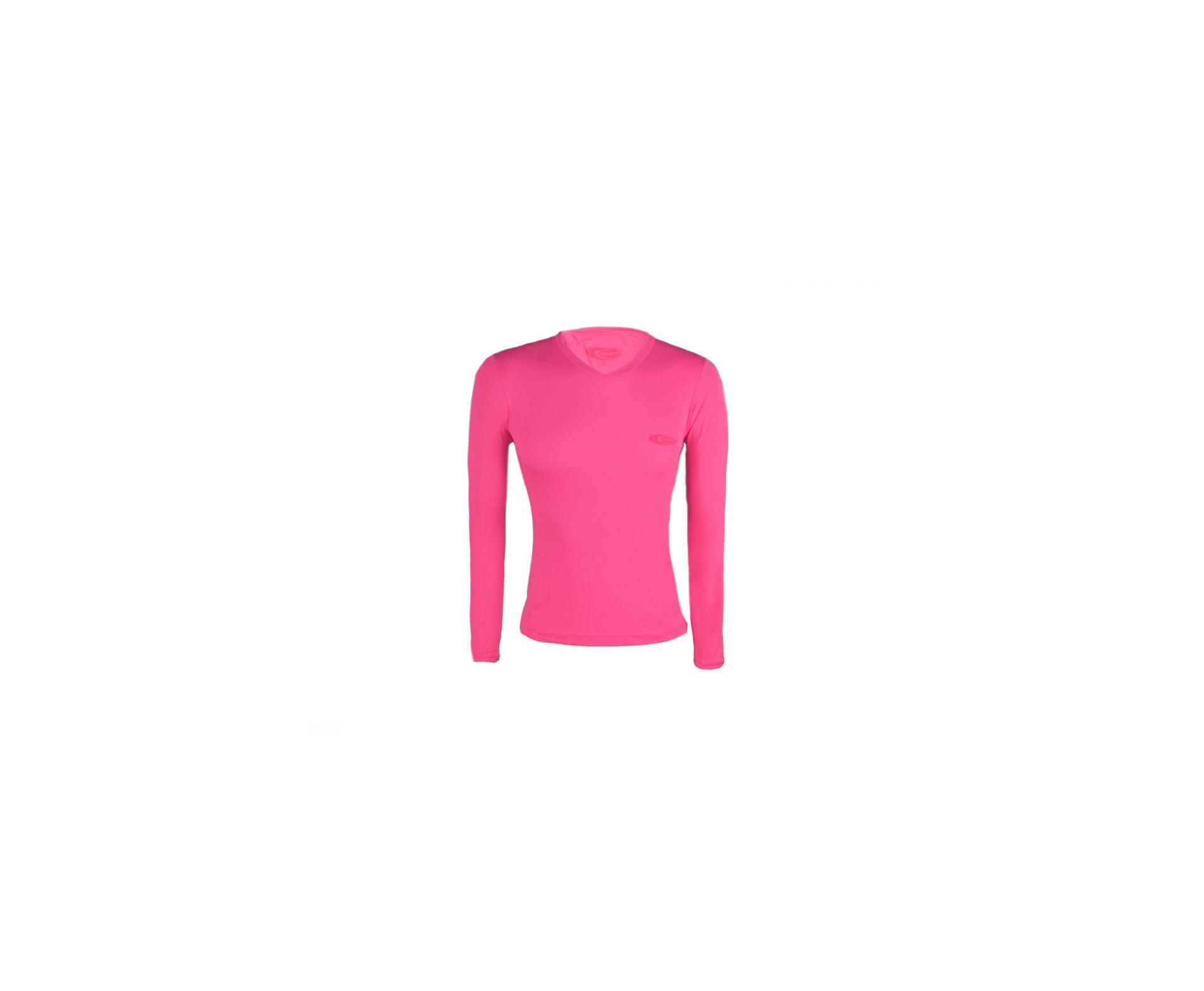 Camiseta Softline Feminina Rosa - Proteção Uva/uvb 50+ Fps - Cardume