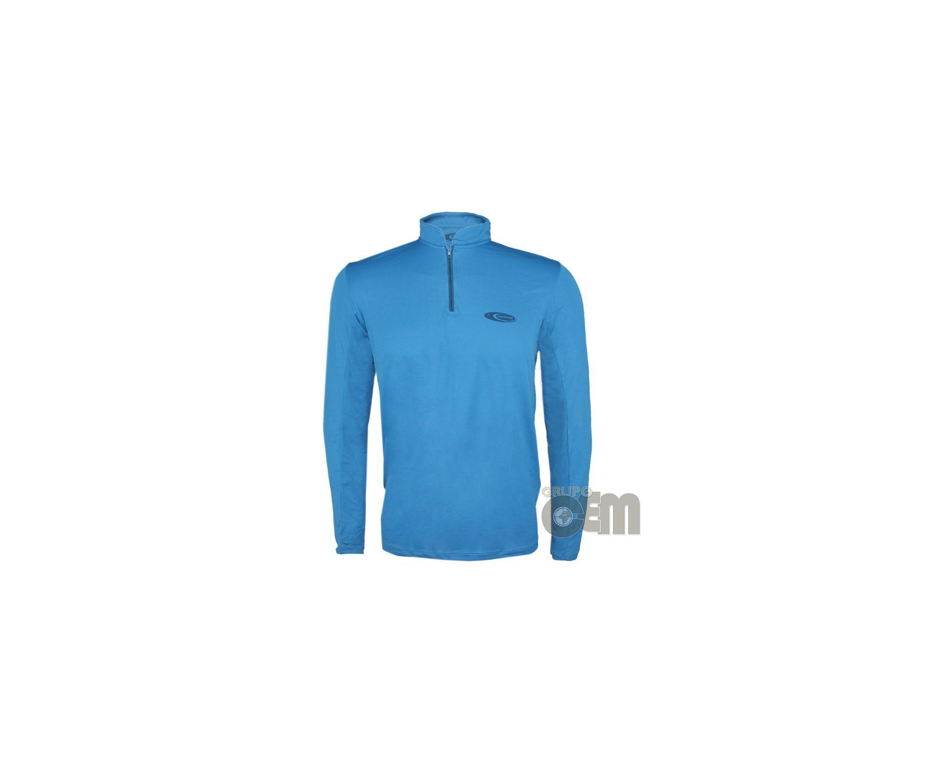 Camiseta Fisherman Azul - Proteção Uva/uvb 50+ Fps - Cardume
