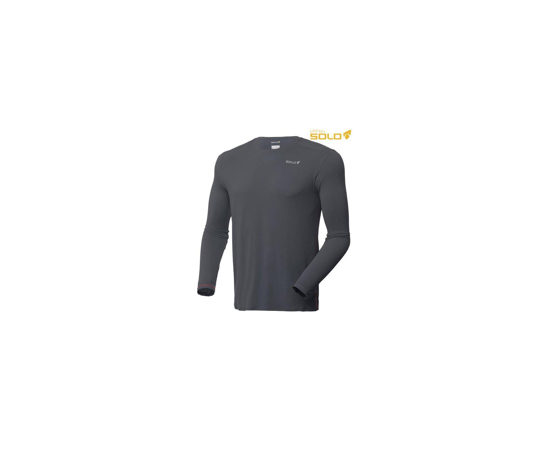 Camiseta Ion Uv Ml Granite - Proteção Uva/uvb 50+ Fps -  Solo