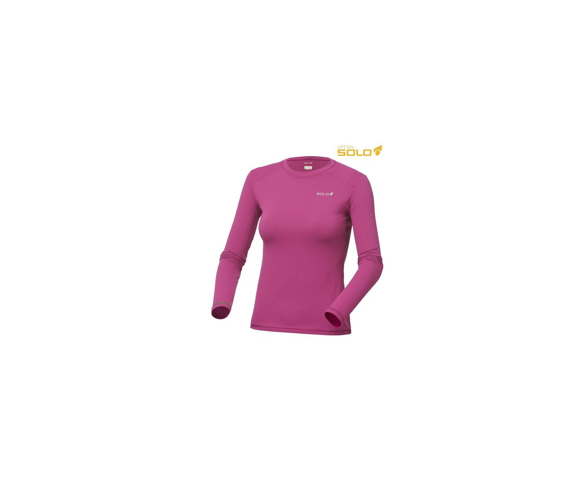 Camiseta Ion Uv Ml Lady Rs Fucsia - Proteção Uva/uvb 50+ Fps -  Solo