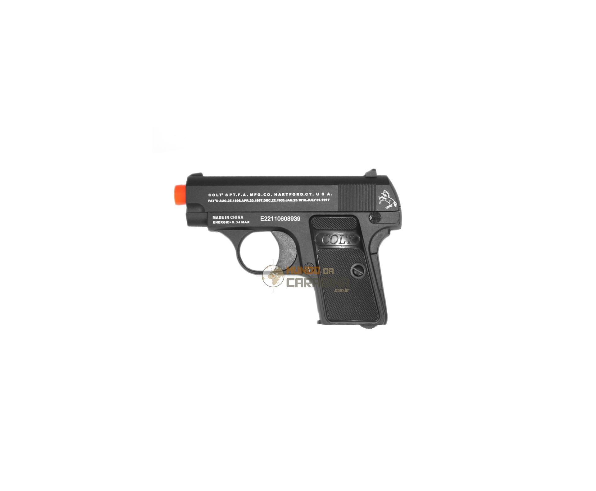 Pistola De Airsoft Colt 25 - Full Metal - Cal 6,0 Mm