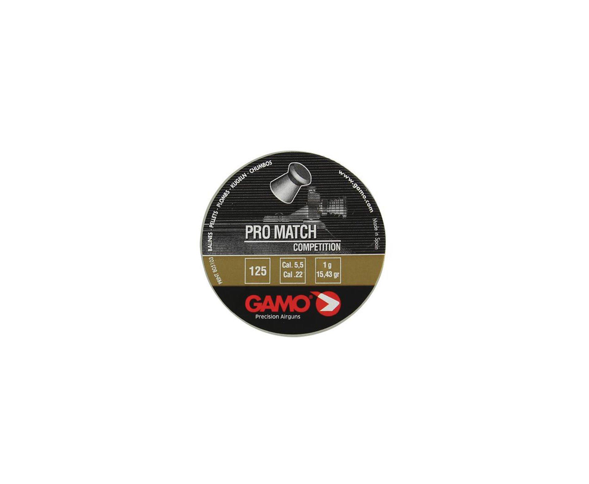 Chumbinho Pro Match 5,5mm (125un) - Gamo