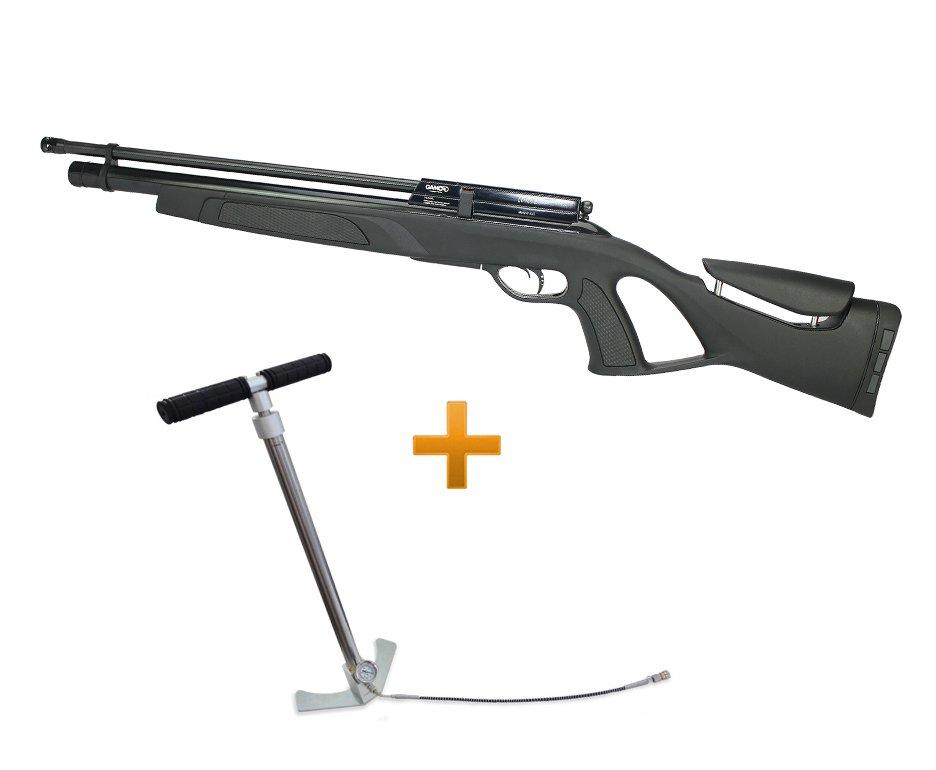 Carabina Pcp Gamo Coyote Black Cal 5,5mm + Bomba Hand Pump Inox - Gamo
