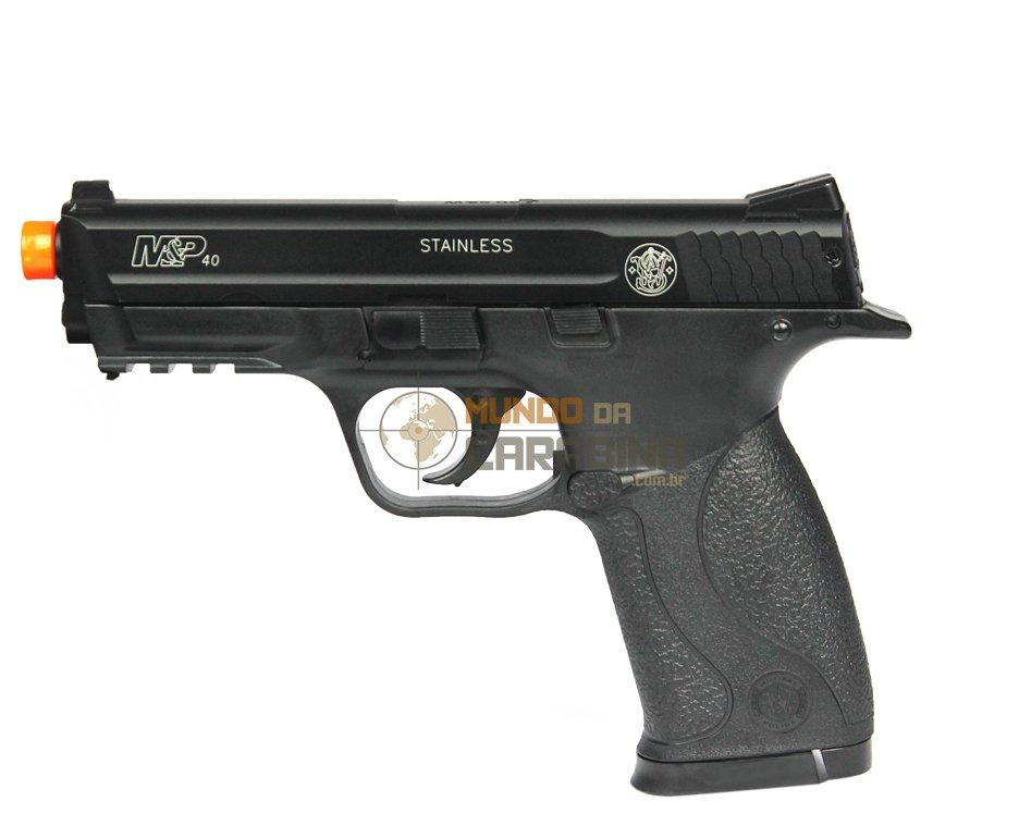 Pistola De Airsoft Smith&wesson Mp 40 - Semi Metal - Cal 6,0 Mm - Cyber Gun