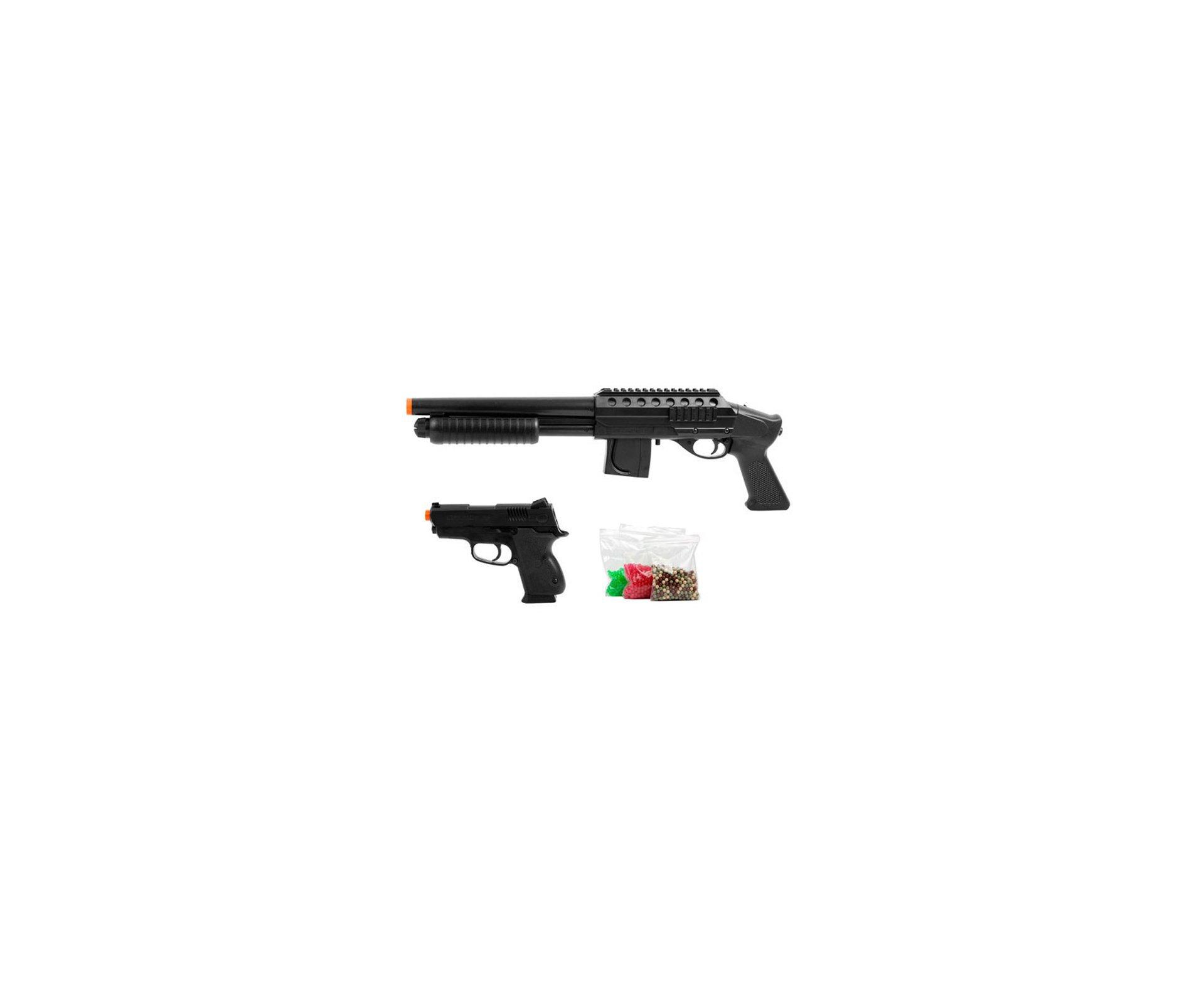 Kit Shotgun + Pistola Mossberg 500 - Spring - Cal 6.0mm - Cyber Gun