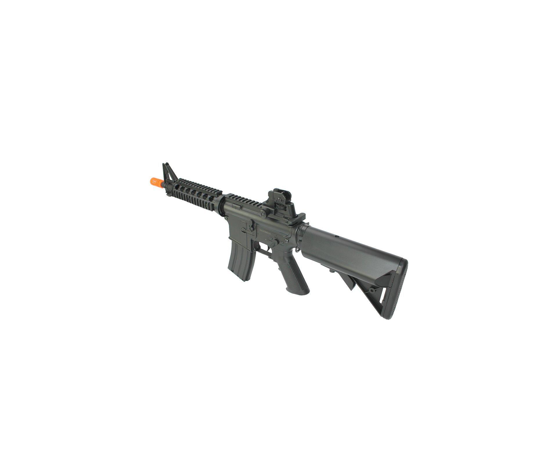 Rifle De Airsoft M4a1 Cqb Ris Cm506 Cal 6mm - Eletrico Bivolt - Cyma + Red Dot 1x22 + 4000 Esferas 0,20g + Capa