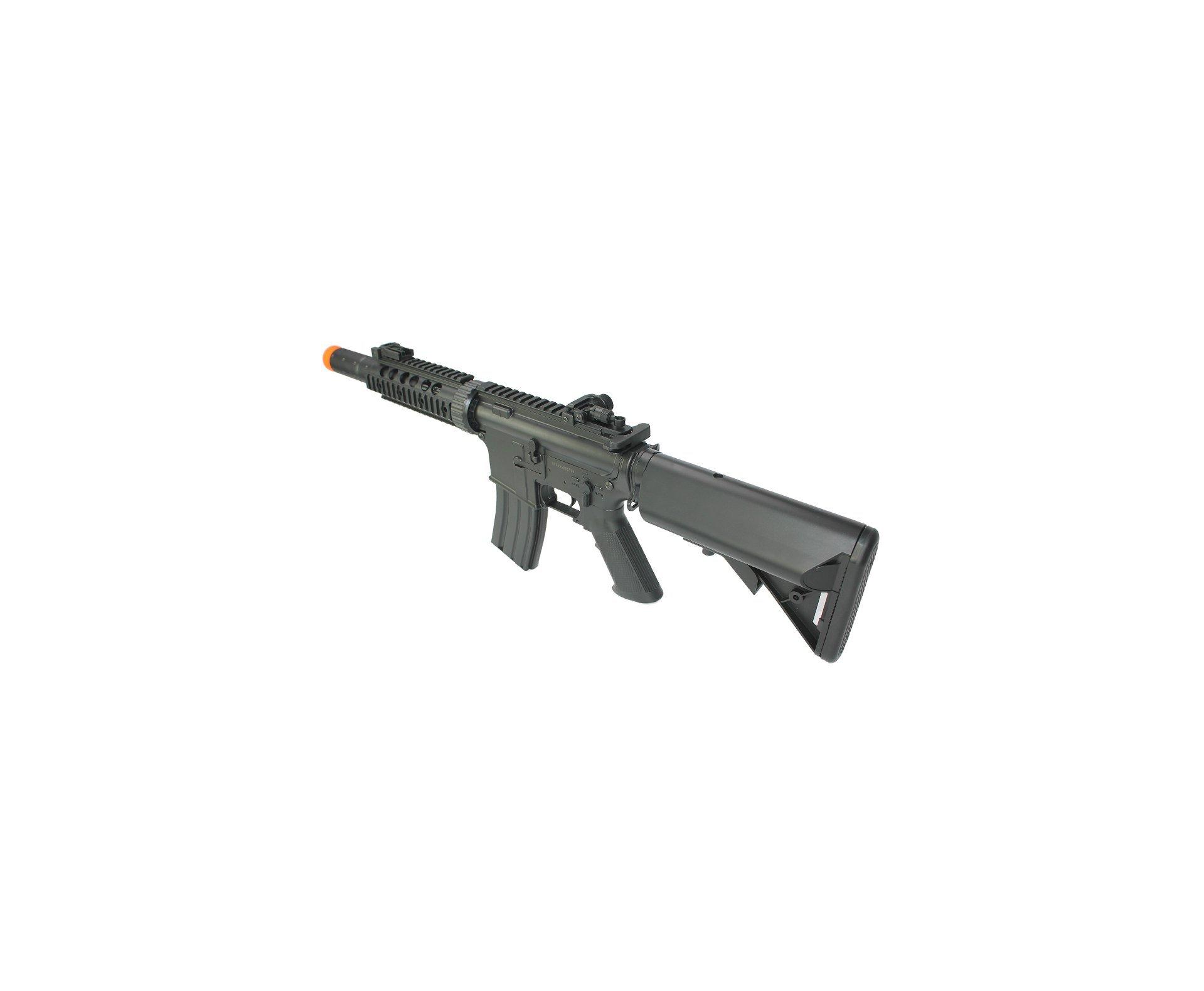 Rifle De Airsoft M4a1 Ris Black Cal 6mm - Eletrico - Bivolt + 4000 Esferas 0,20g + Capa - Cyma