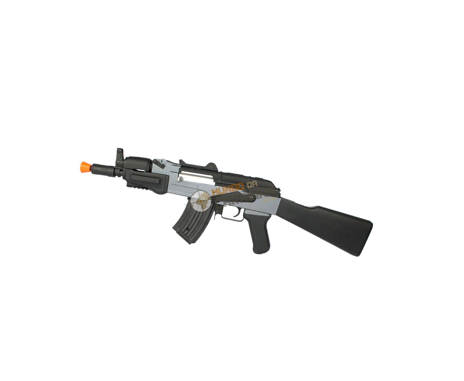 Rifle De Airsoft Ak Spetsnaz - Cal 6.0mm + 4000 Esferas 0,20g + Capa - Cyma