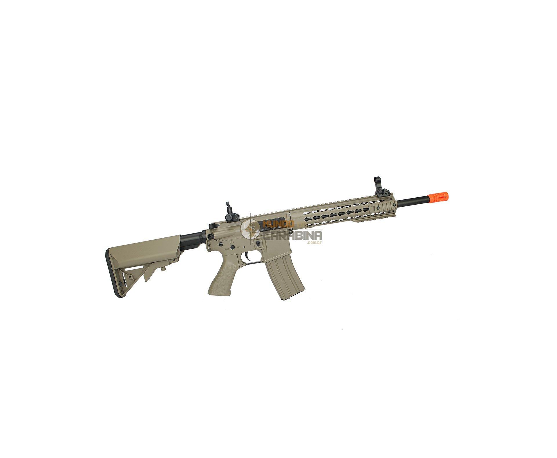 Rifle De Airsoft M4a1 Ris Tan Cal 6mm - Bivolt - Cm515 - Cyma