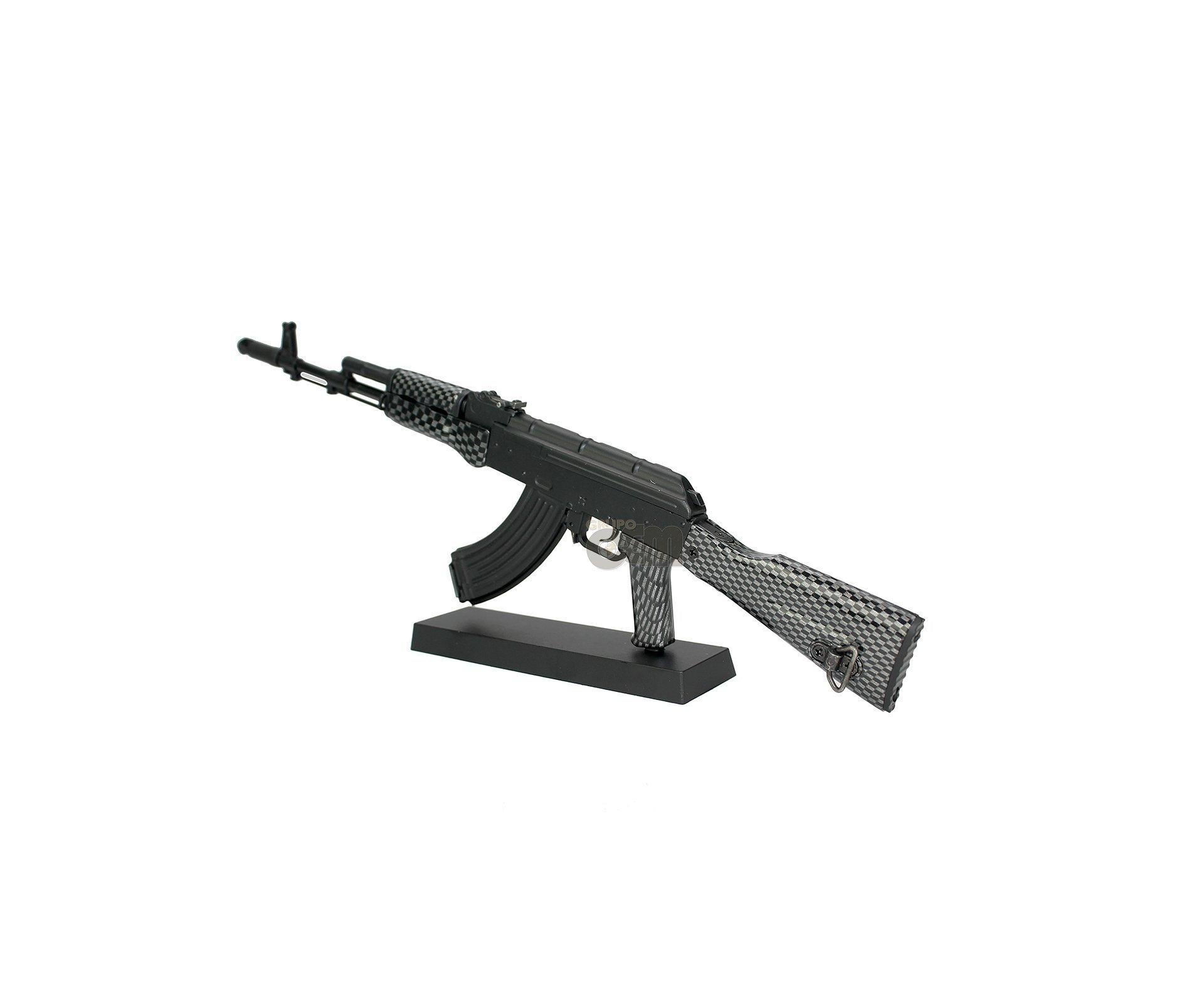 Rifle Ak74 Black Miniatura Metálica  - Arsenal Guns