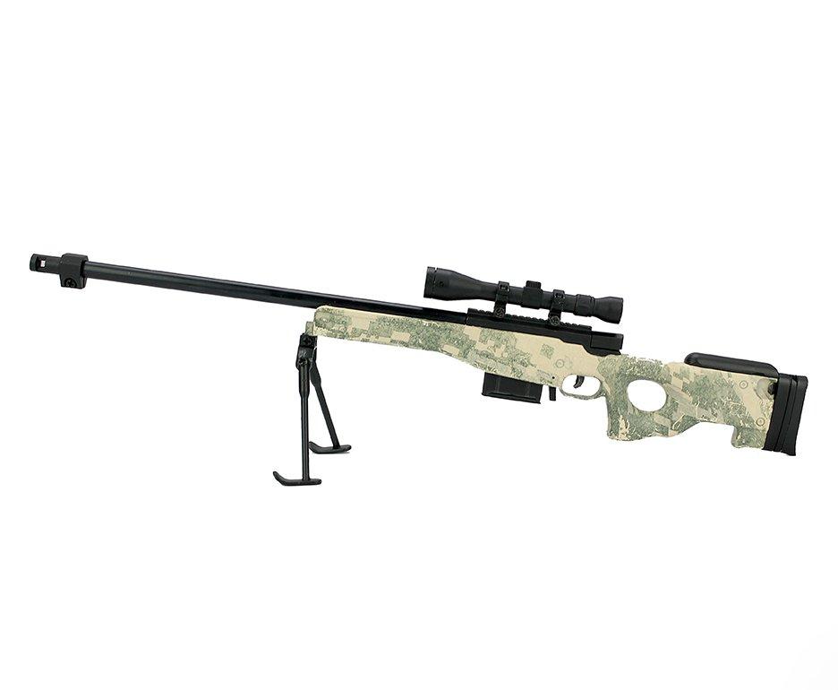 Rifle Sniper L96 Camuflado Miniatura Metálica - Arsenal Guns