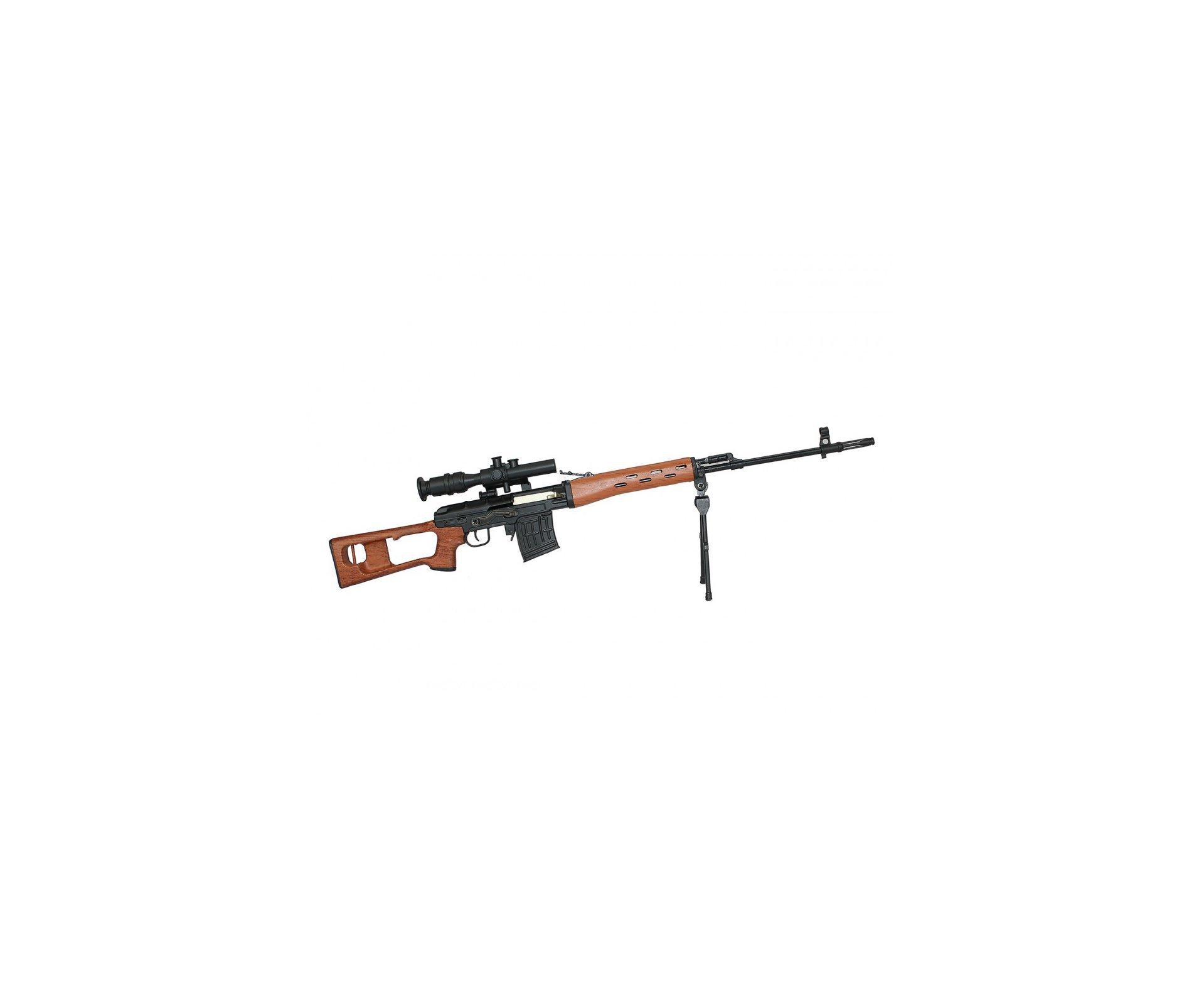 Rifle Sniper Dragunov Clássica Miniatura Metálica - Arsenal Guns