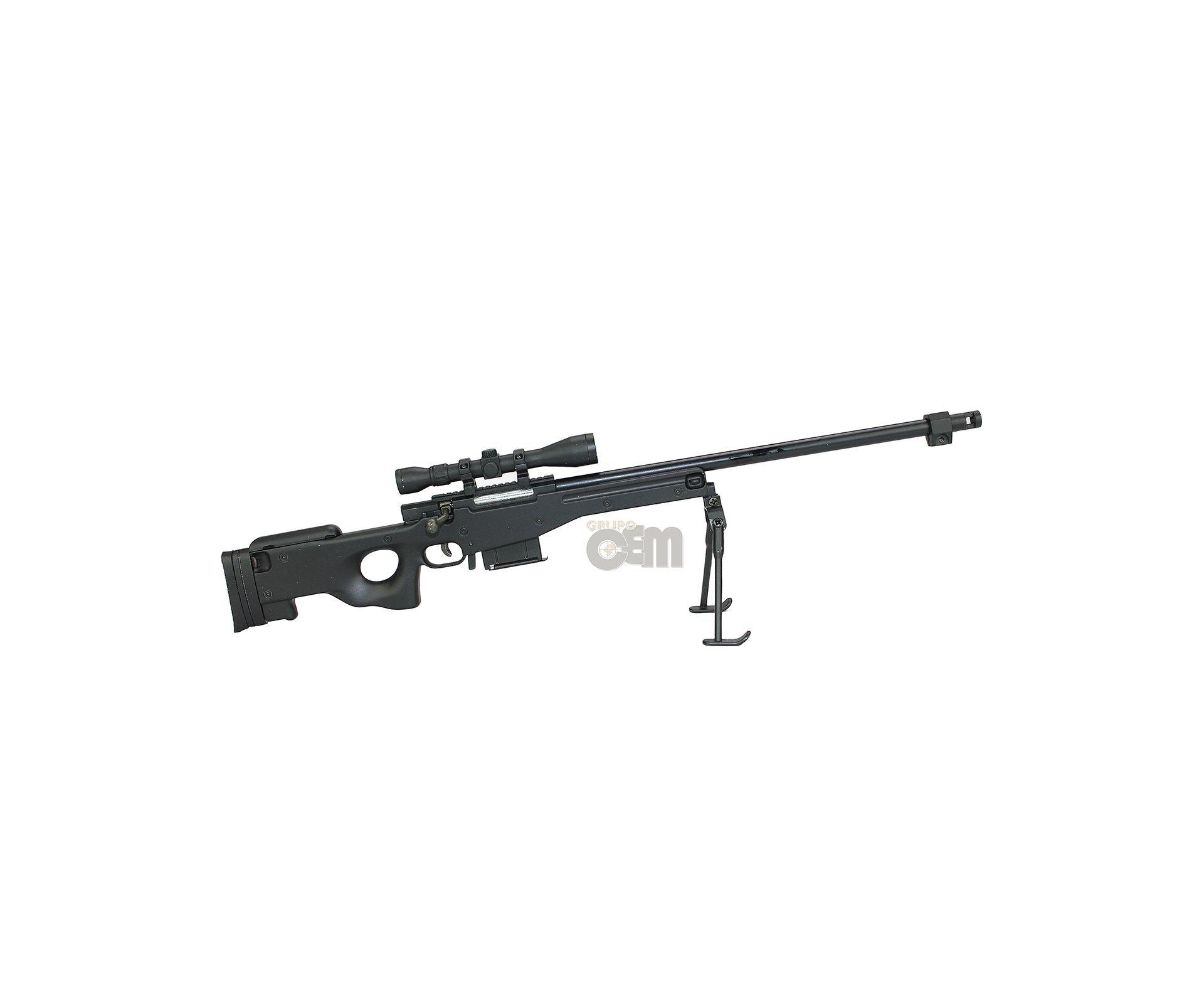 Rifle L96 Black Miniatura Metálica - Tactical - Arsenal Guns