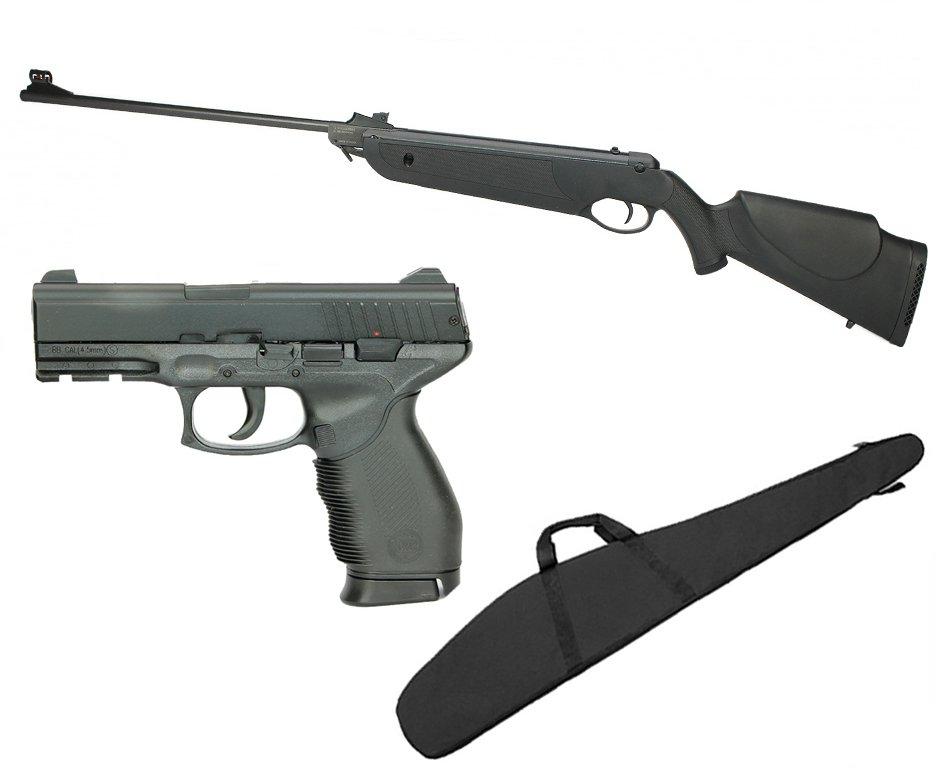 Carabina De Pressão Nova Dione Black Cal 4,5mm - 3° Geração + Pistola De Pressão 24/7 Cal 4,5 (kwc) + Capa 45 - Rossi