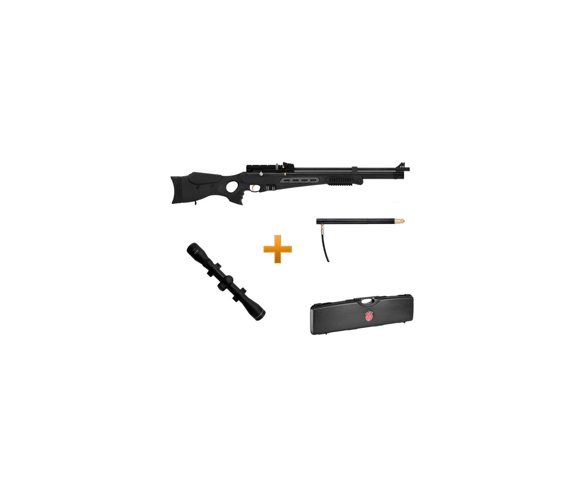 Carabina De Pressão Hatsan Bt65 Sb Elite - Cal 5,5 Mm + Case + Cilindro Extra -  Luneta 4x32 Ga Walther