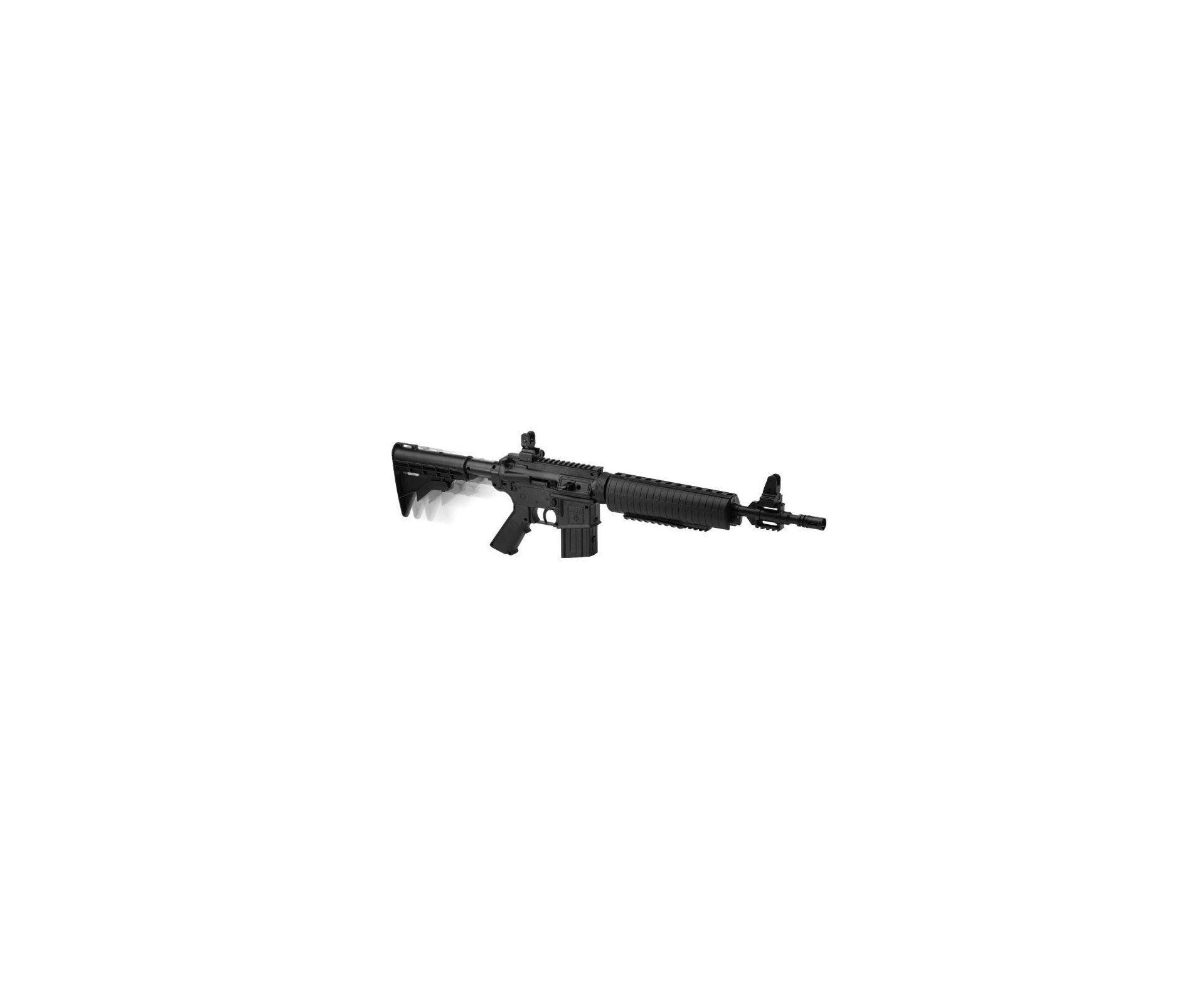 """Carabina De Ar Crosman M4-177 Multi Pump - 4,5 Mm + 2.500 Esferas Metálicas + Capa 32"""""""