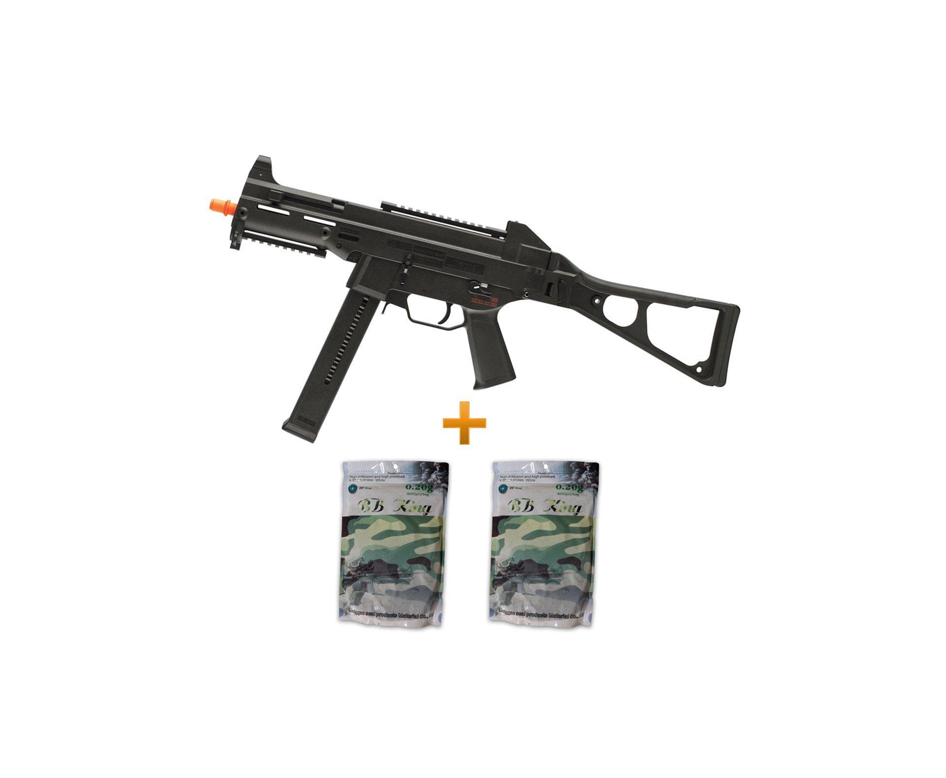 Rifle De Airsoft H&k Ump Aeg - Cal 6.0mm + 8000 Bbs 0,20g - Umarex