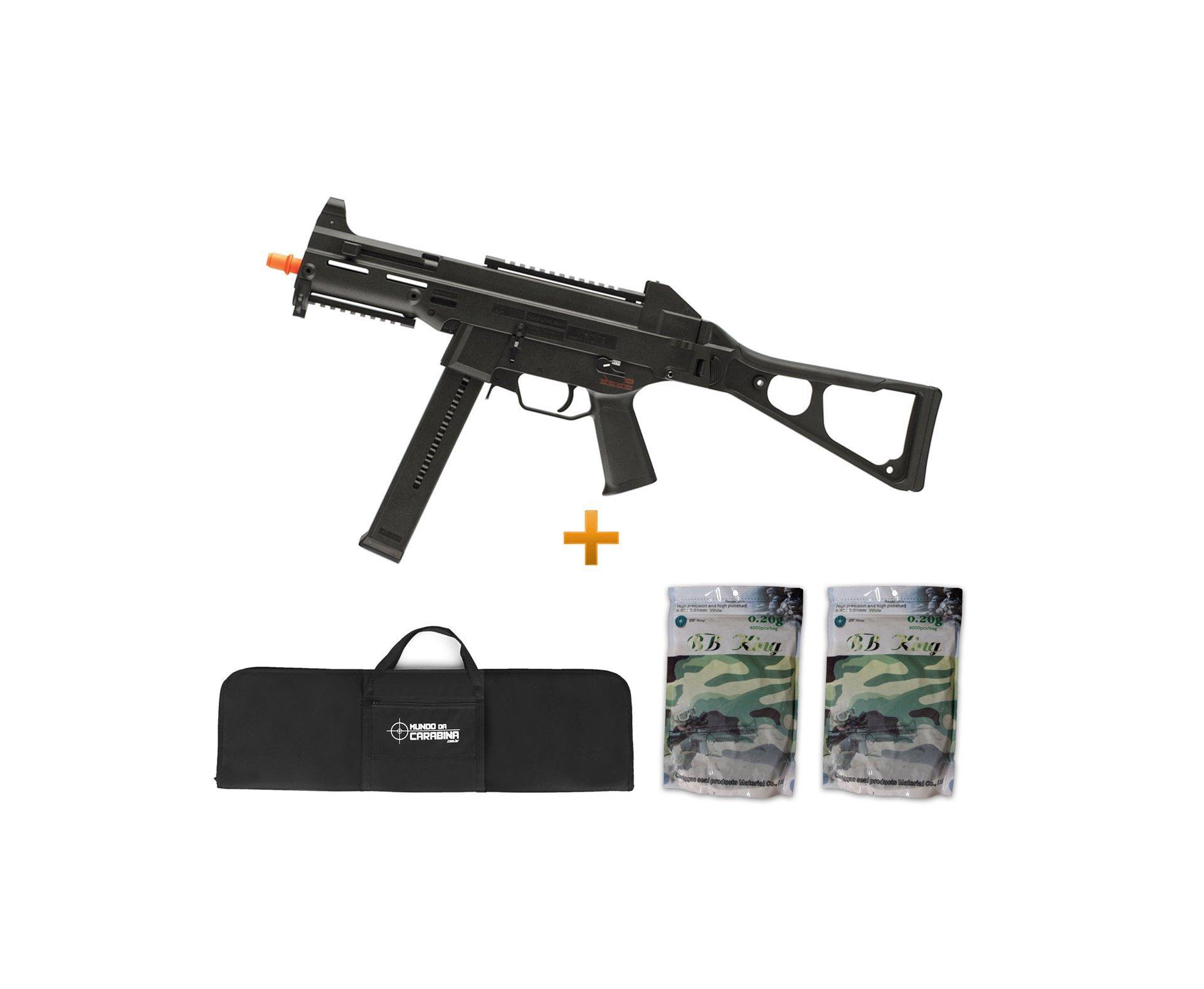 Rifle De Airsoft H&k Ump Aeg - Cal 6.0mm + Capa + 8000 Bbs 0,20g - Umarex