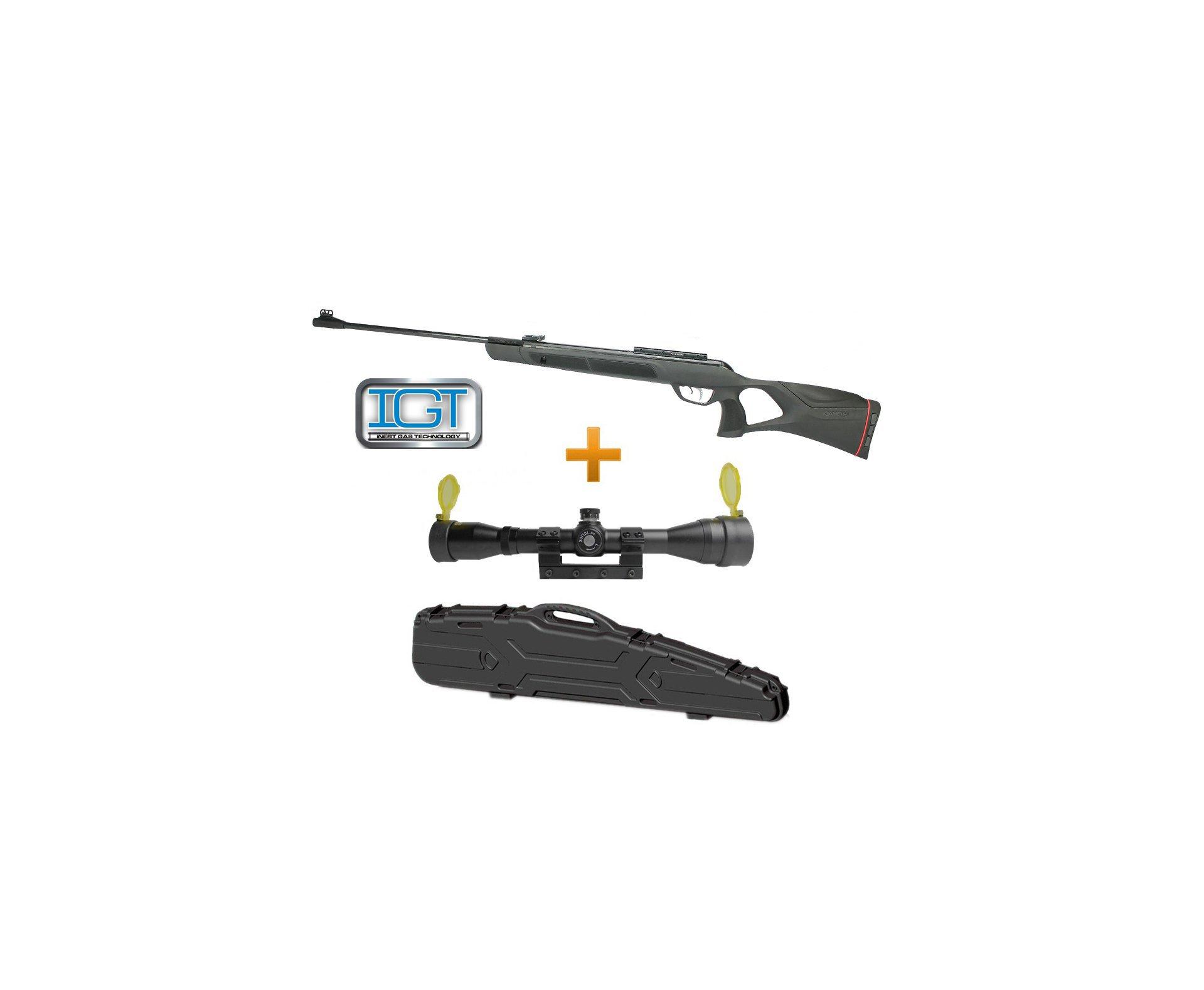 Carabina De Pressão G-magnum 1250 Igt Mach 1 Gas Ram Cal 5,5mm + Luneta 4x32 Gold Rossi + Case - Gamo