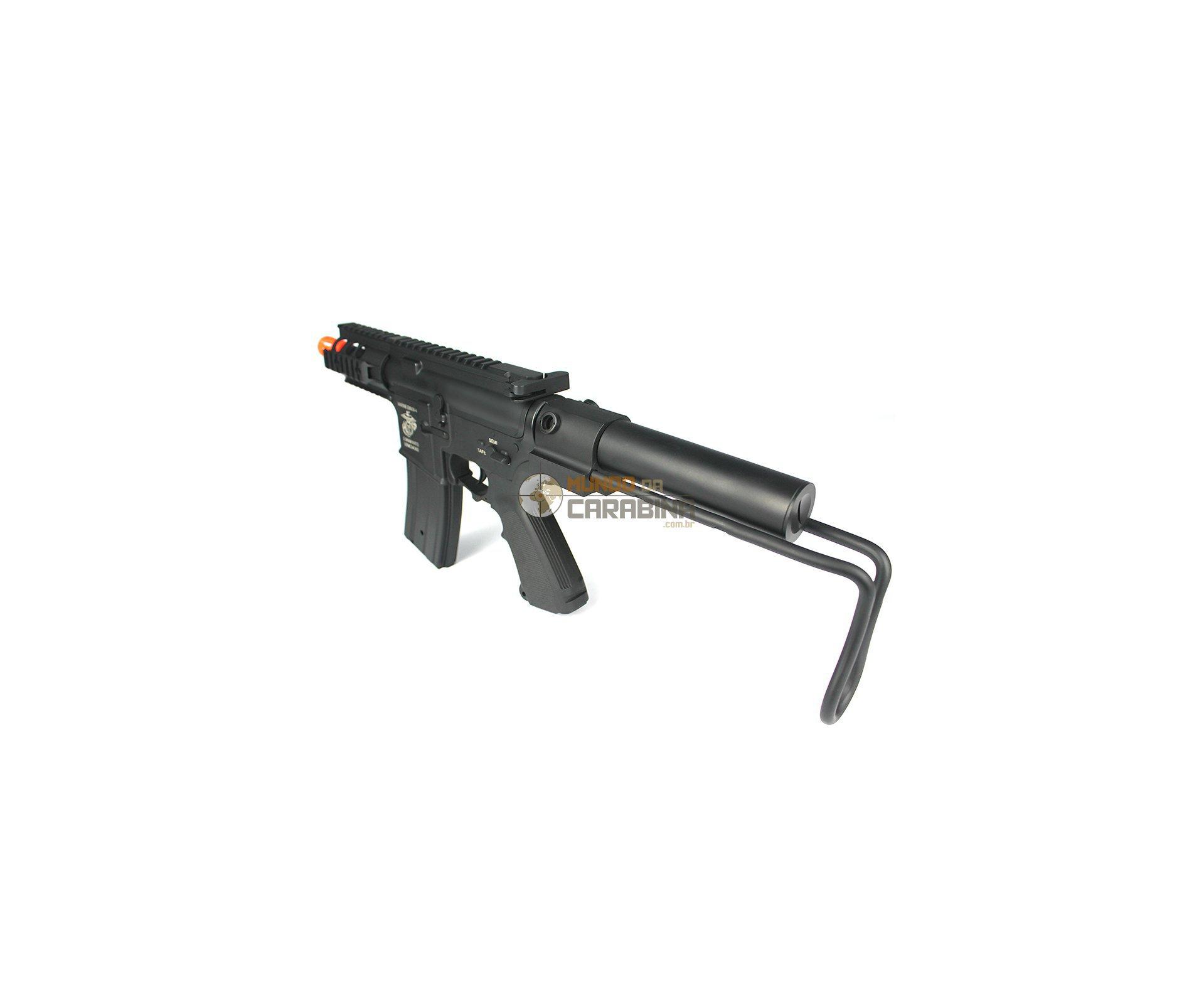 Sub-metralhadora De Airsoft M4 Baby Com Coronha M241 - Full Metal - S&t