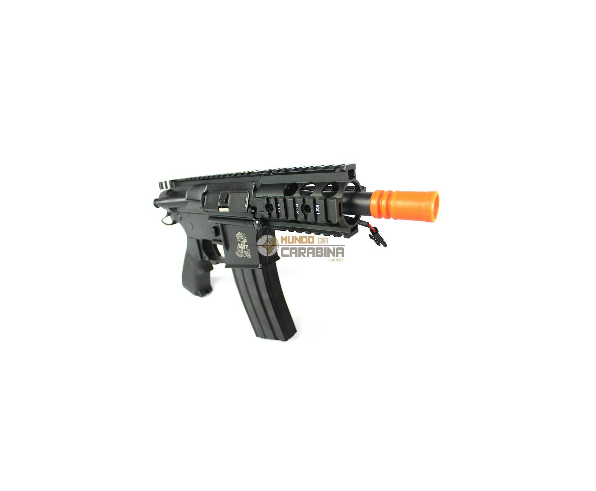 Sub-metralhadora De Airsoft M4 Baby Ris - Full Metal - S&t