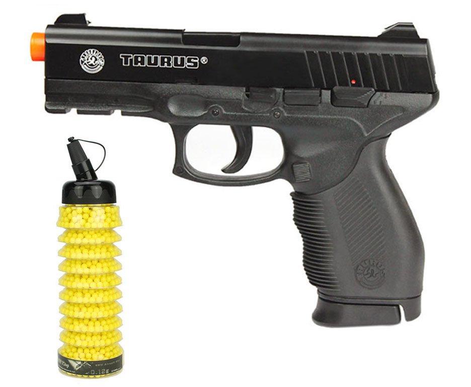 Pistola De Airsoft Taurus Pt 24/7 Semi/metal Cal 6,0 Mm + 2300 Bbs - Cybergun