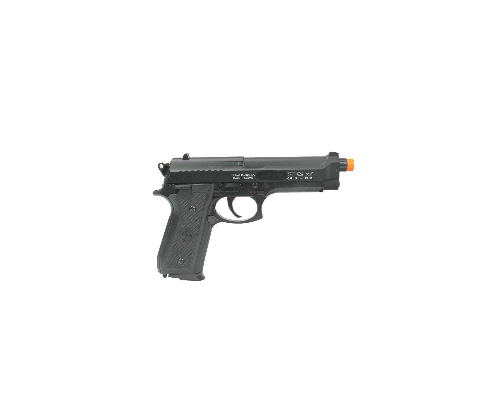 Pistola De Airsoft Taurus Pt 92 - Slide Metal Cal 6,0mm - Original Cybergun