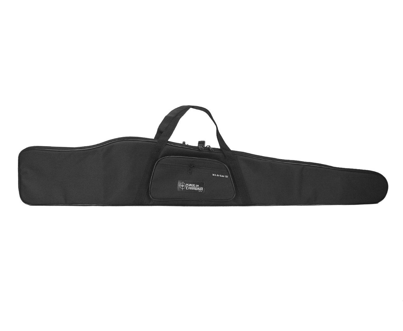 Capa Para Carabina Preta 120cm - Mundo Da Carabina