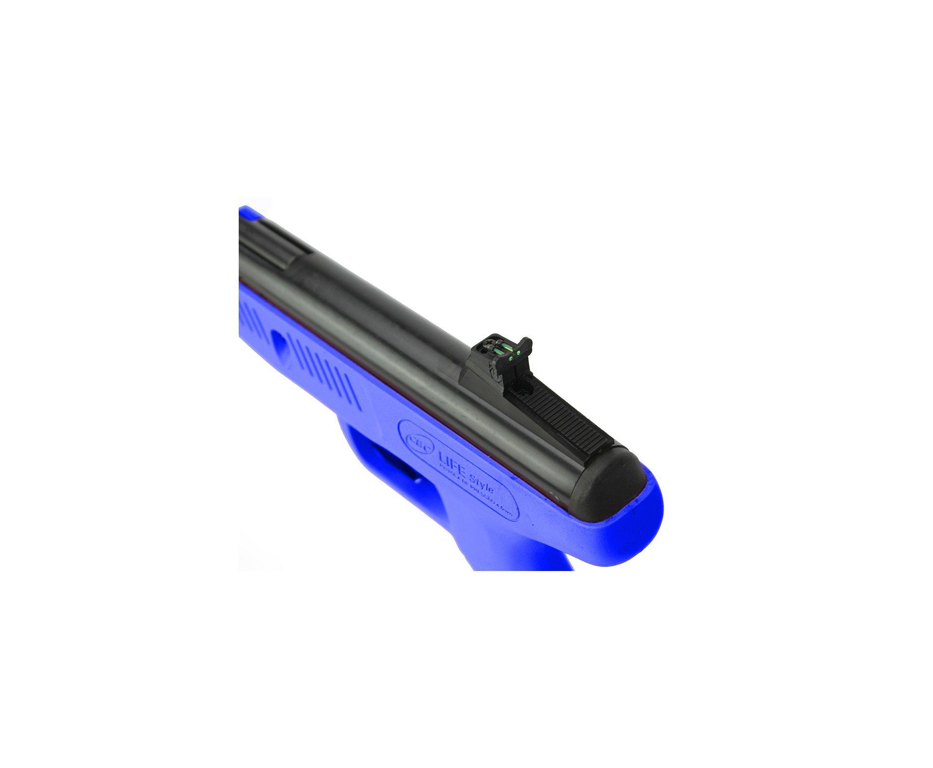 Pistola De Pressão Cbc Life Style Azul - Calibre 4,5 Mm