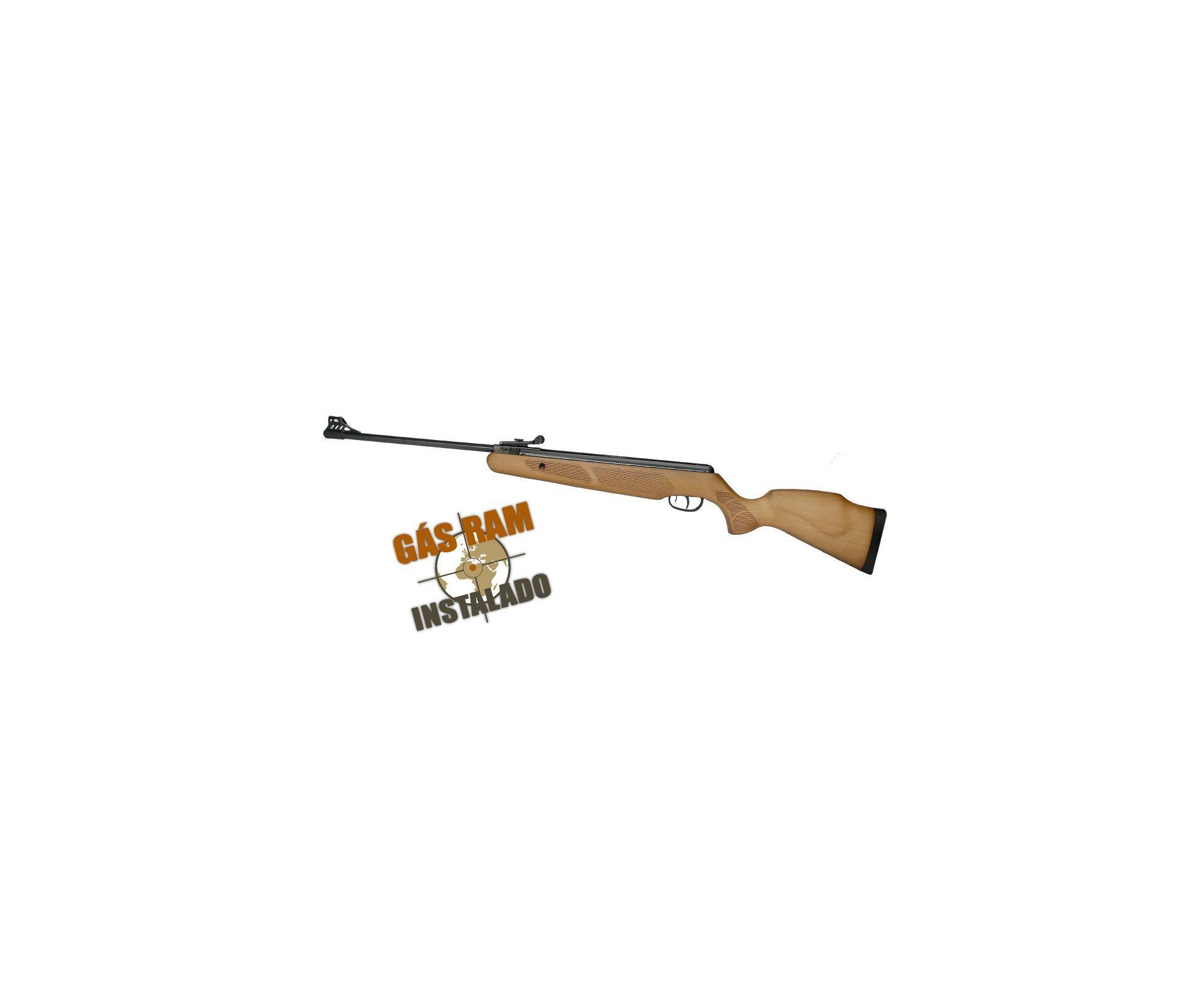 Carabina De Pressão Cbc B19-x 4,5mm Magnum Gás Ram 60kg Instalado + 05 Chumbinhos + Capa Especial