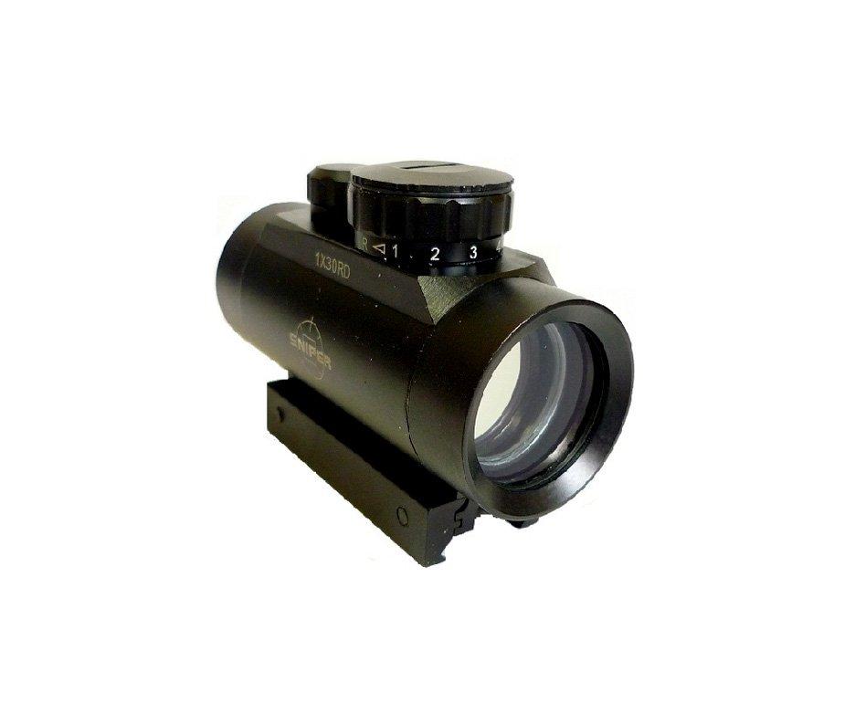 Red Dot 1x30eg Para Airsoft Sniper Mount Duplo 11/22mm