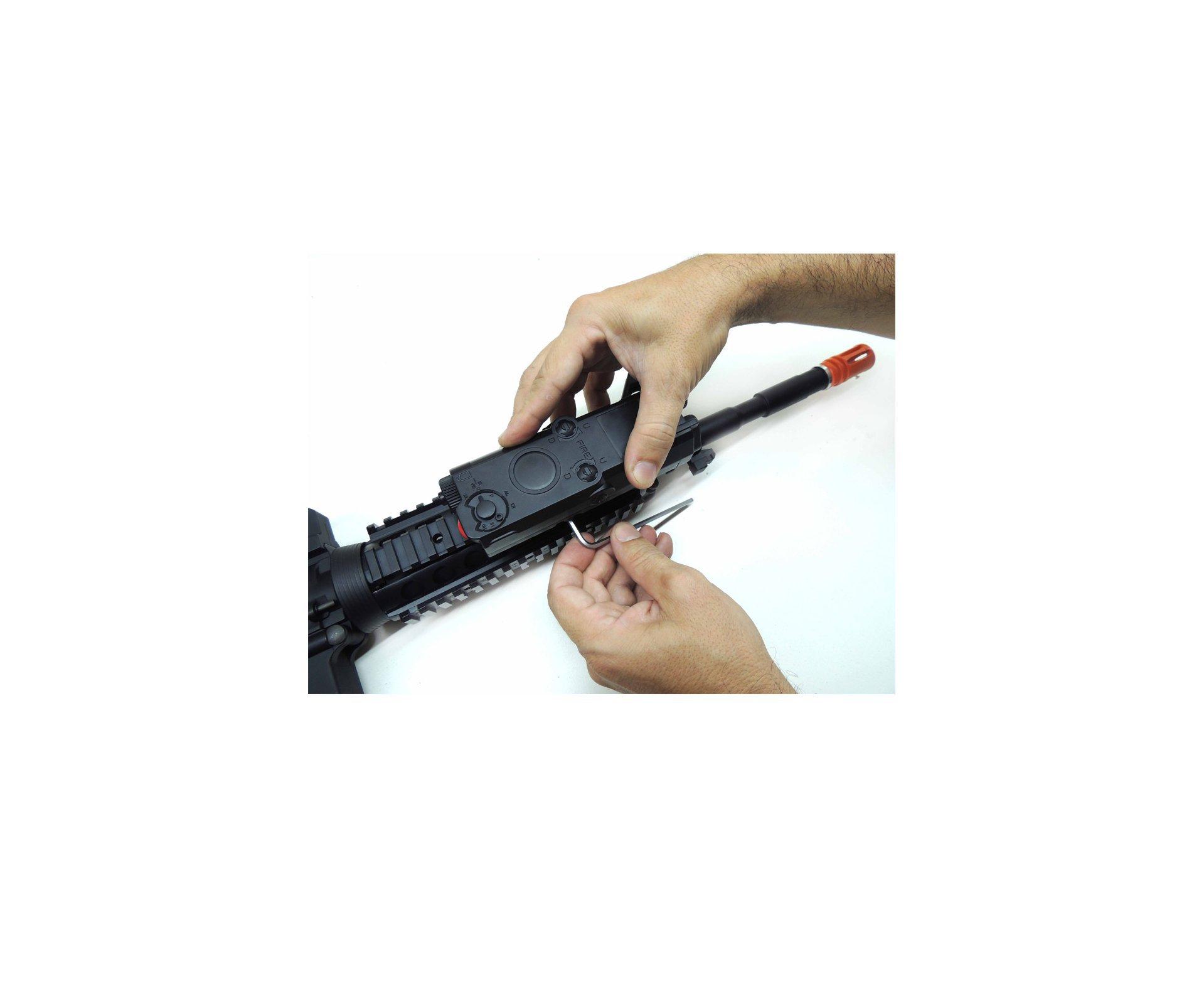 Rifle De Airsoft Colt M4 Ris - Cal 6,0mm - King Arms + Pistola Colt 25