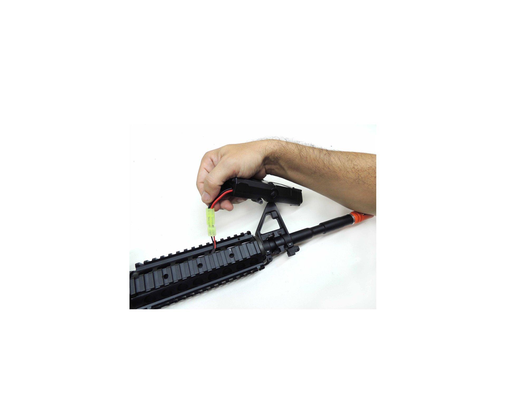 Rifle De Airsoft Colt M4a1ris Cal 6,0 Mm - King Arms + Farda Acu Digital Urban Swiss+arms - Tamanho P