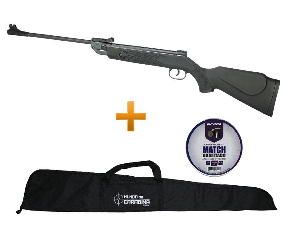 Carabina De Pressão Shadow Black Cal 5.5mm - Fixxar + Capa + Chumbinho