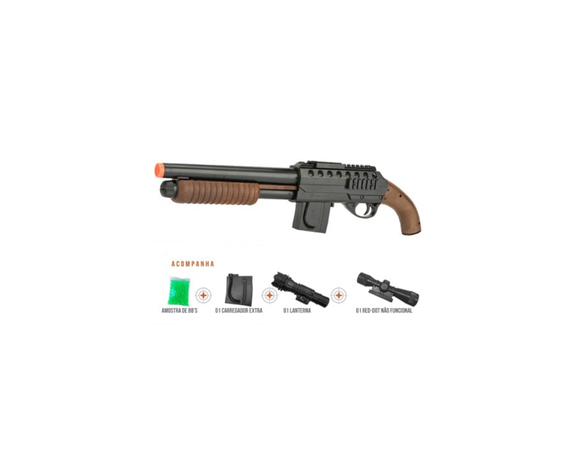 Shotgun Airsoft Smith & Wesson M3000 - Calibre 6,0 Mm - Cyber Gun