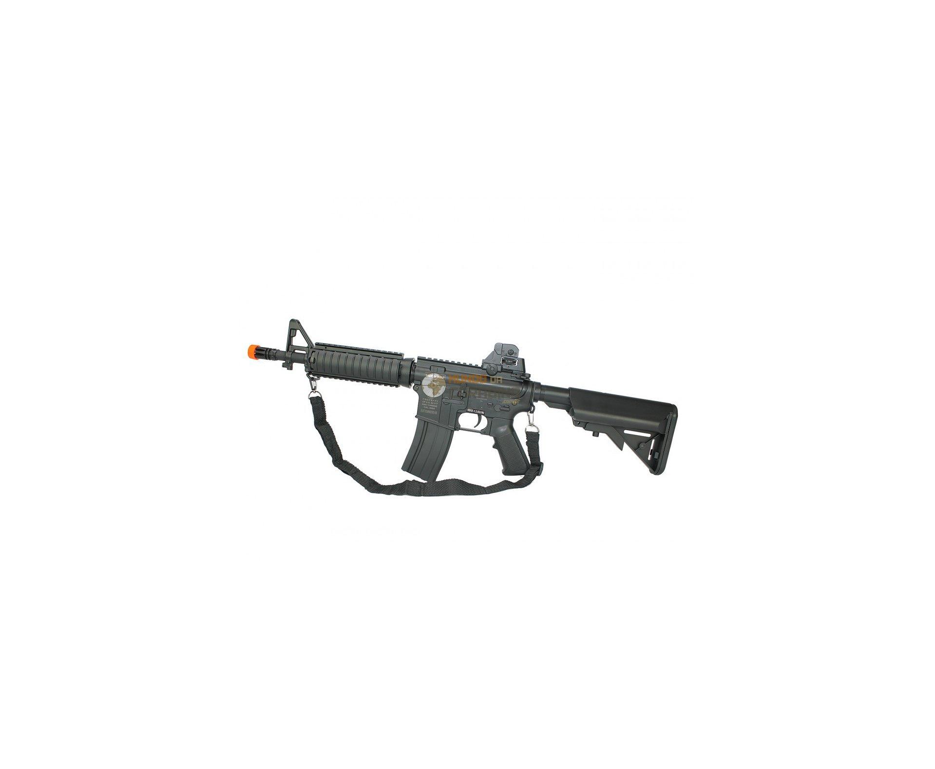 Rifle Airsoft Colt M4a1 Cqb Ris Aeg Cal 6mm Bivolt Cybergun + Capa + 12000 Bbs 0,20g