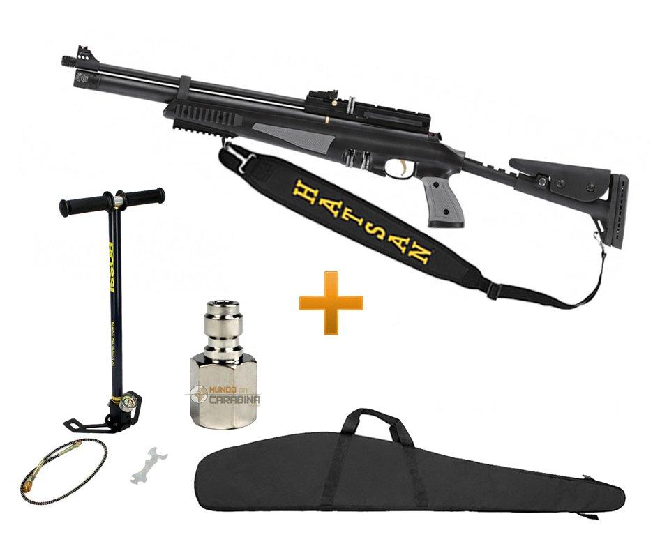 Carabina De Pressão Hatsan Pcp At44-10 Tactical 5,5 Mm + Bomba Manual Rossi