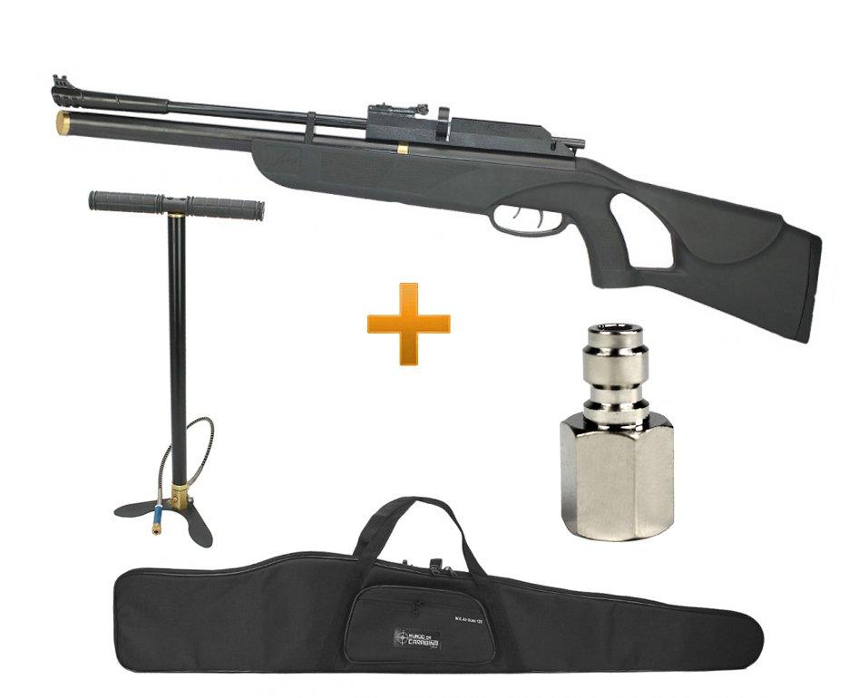 Carabina De Pressão Pcp Fiora P-10 10 Tiros 5,5mm + Bomba Hand Pump + Capa