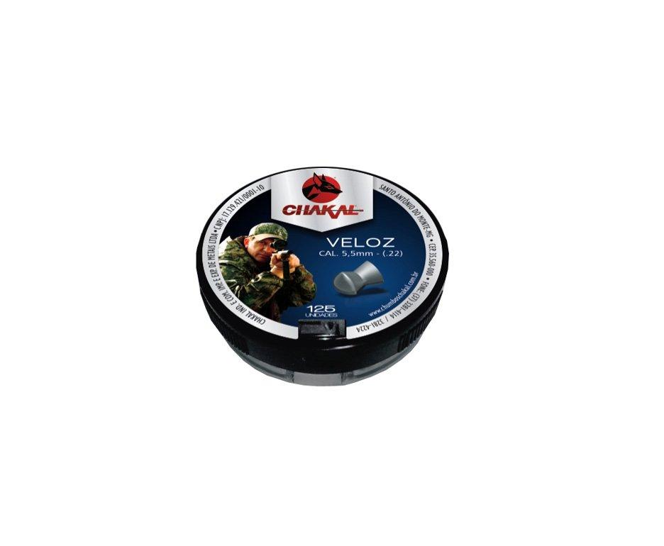 Chumbinho Veloz Calibre 5,5 Mm - 125 Unidades - Chakal